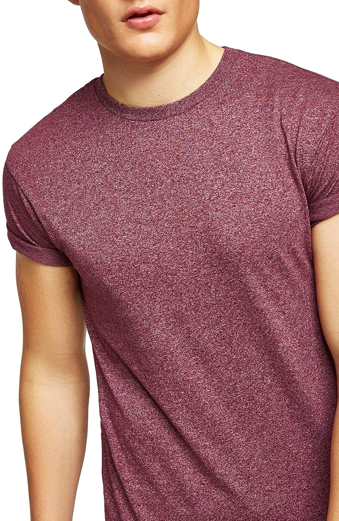 Muscle Fit Flecked T-Shirt,                             Main thumbnail 1, color,