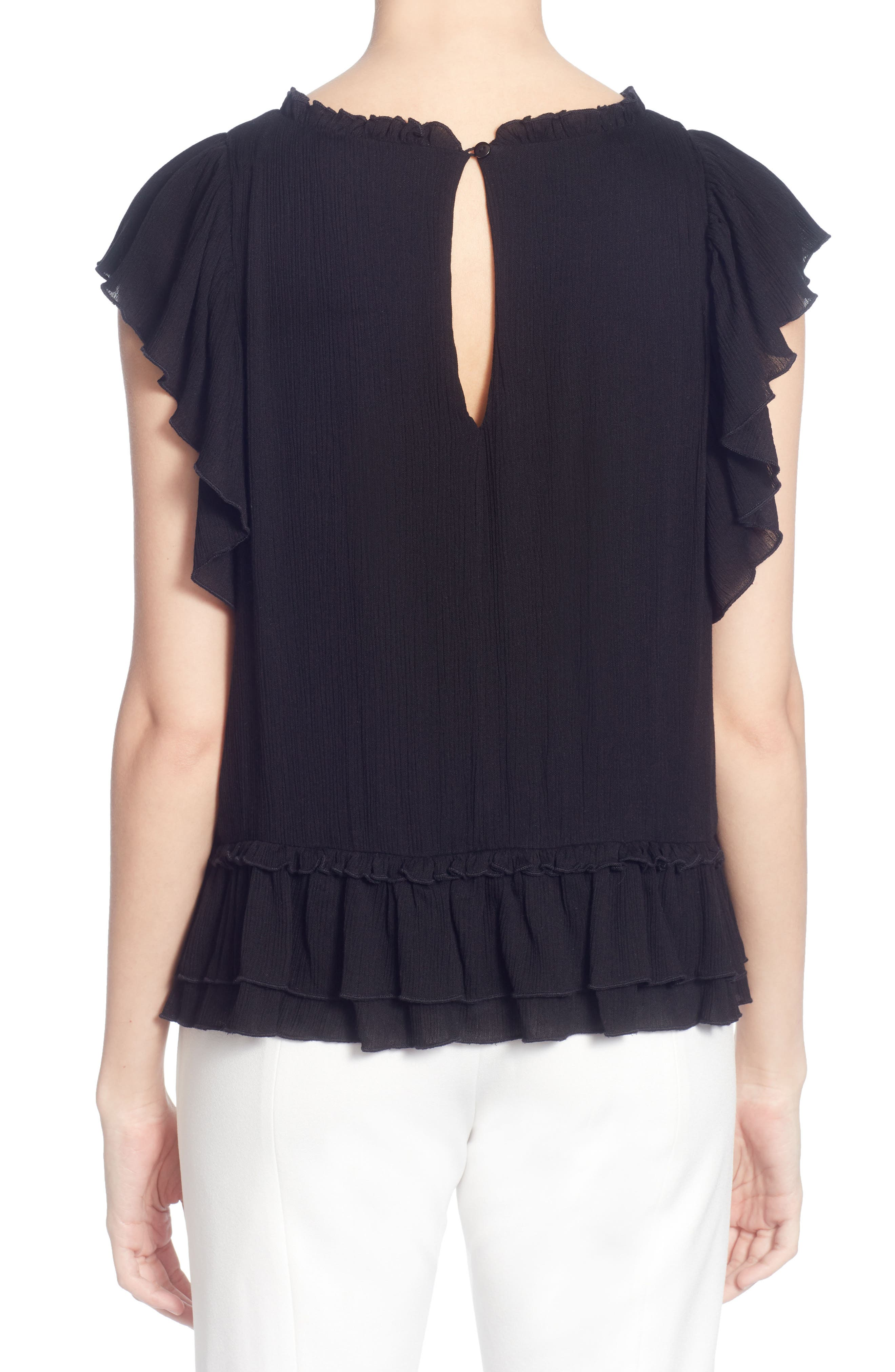 Hollis Ruffled Top,                             Alternate thumbnail 2, color,                             001