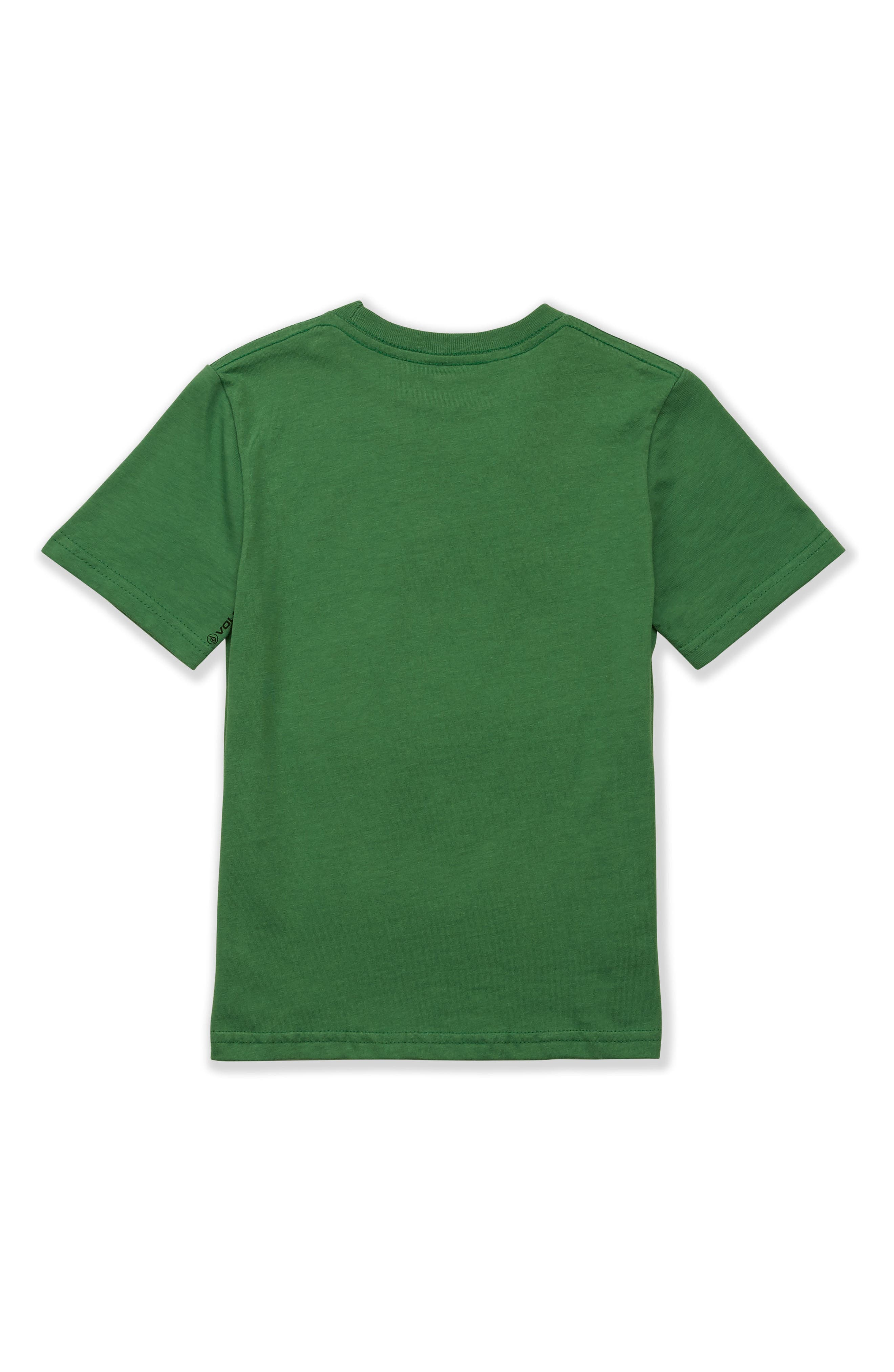 Crisp Stone Logo Graphic T-Shirt,                             Alternate thumbnail 2, color,                             DARK KELLY