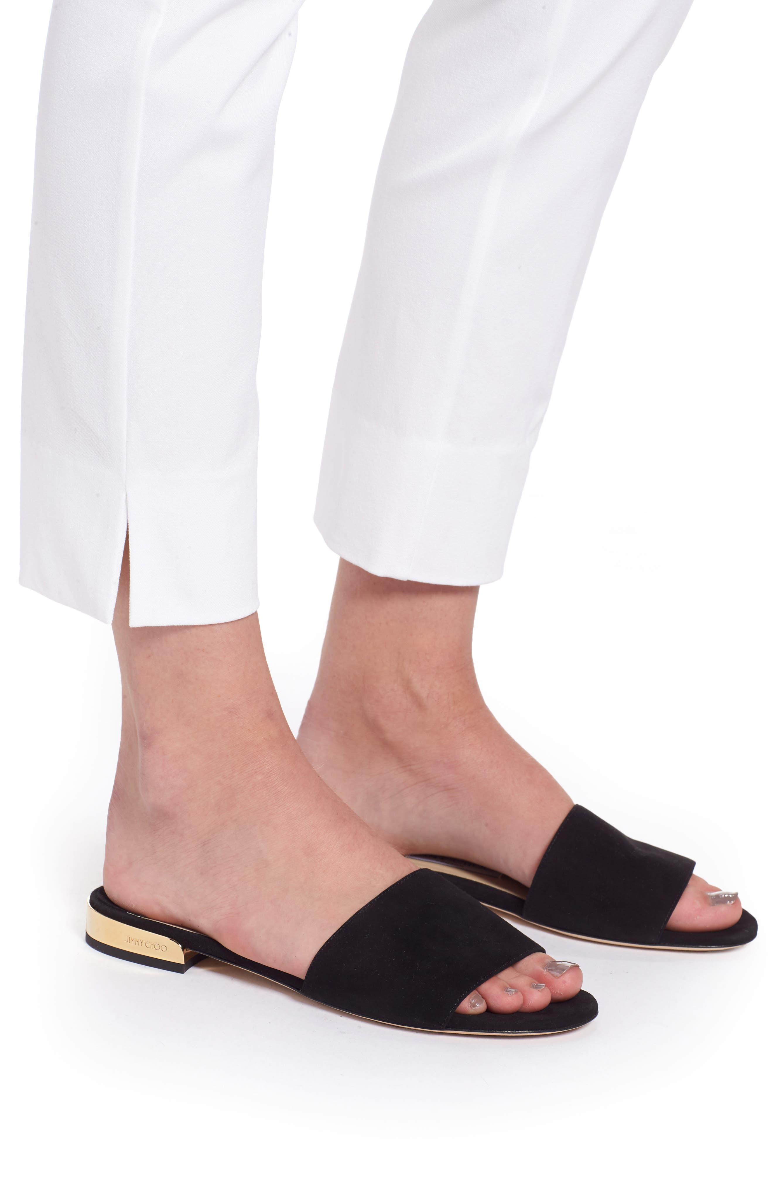 Skinny Stretch Pants,                             Alternate thumbnail 4, color,                             WHITE