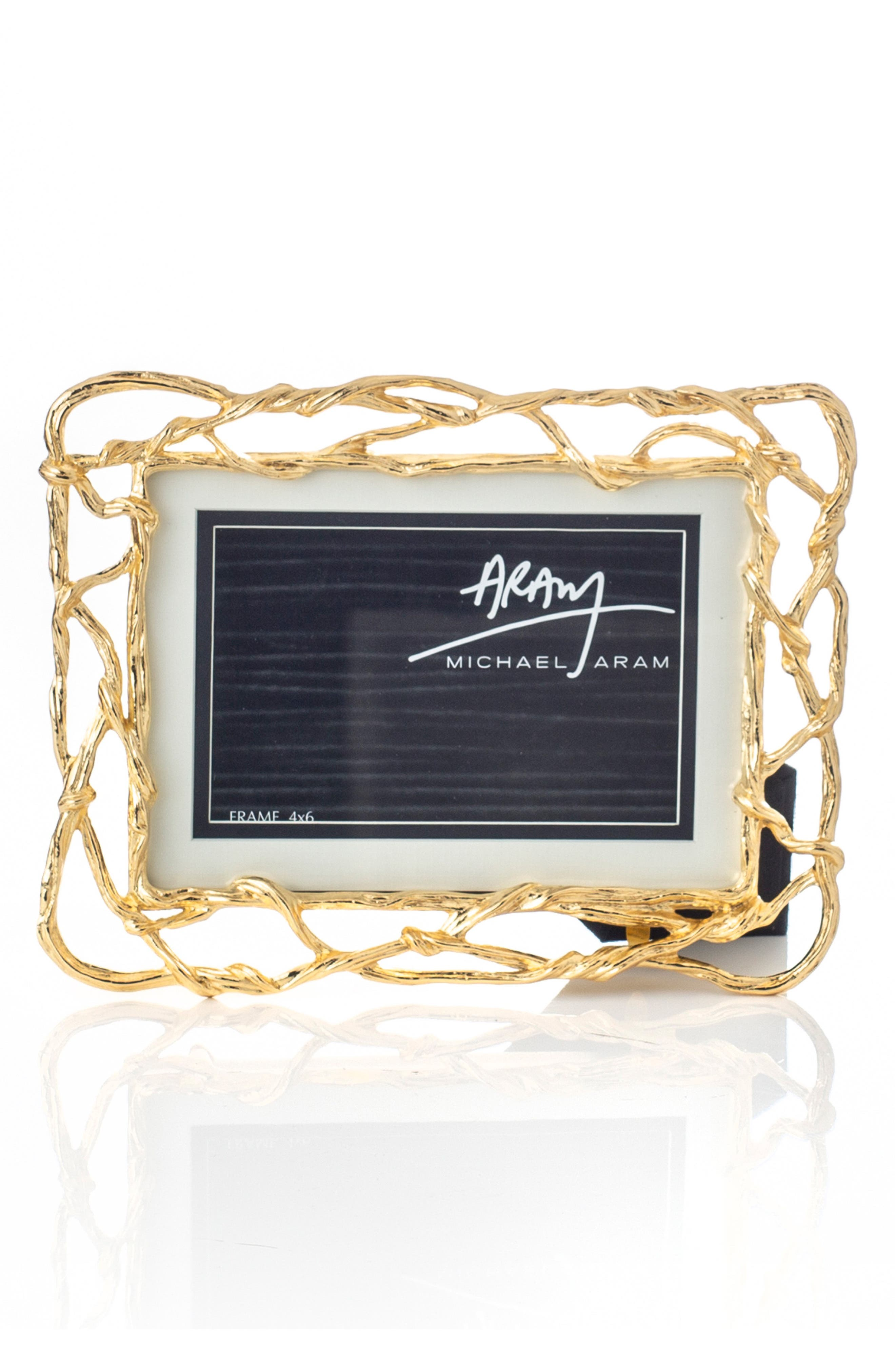 MICHAEL ARAM Wisteria Gold Picture Frame, Main, color, GOLD