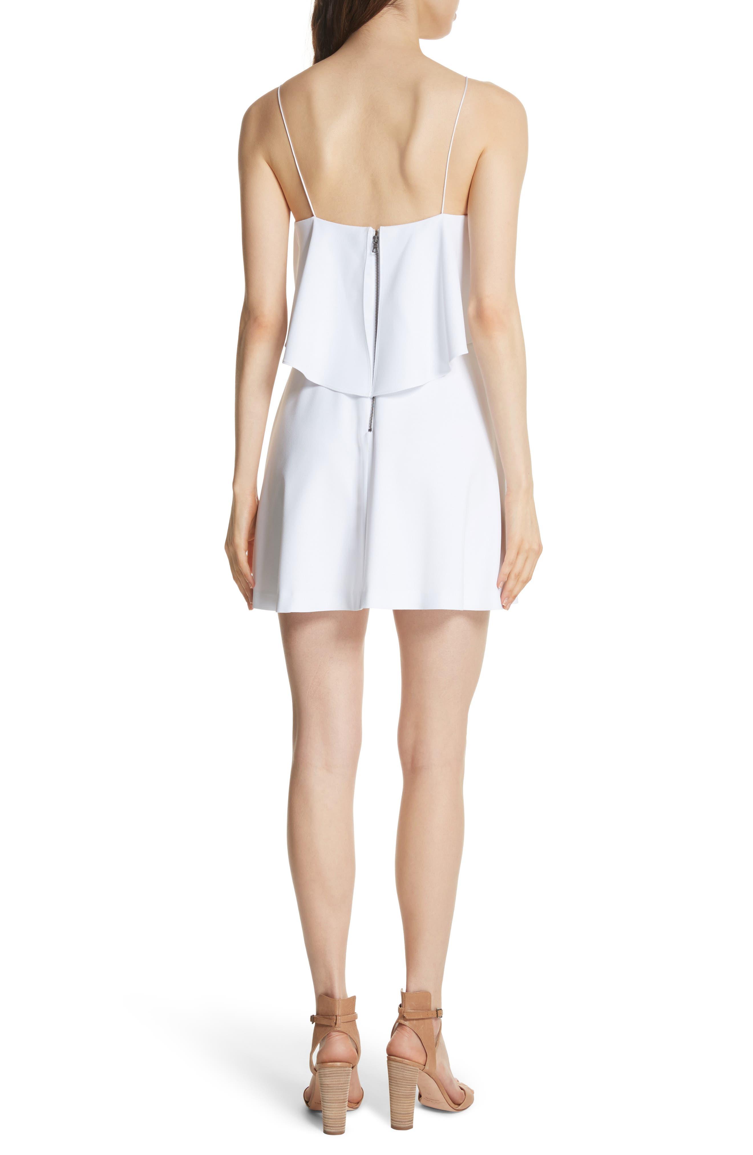 Kipp Layered Ruffle Short Dress,                             Alternate thumbnail 2, color,                             100