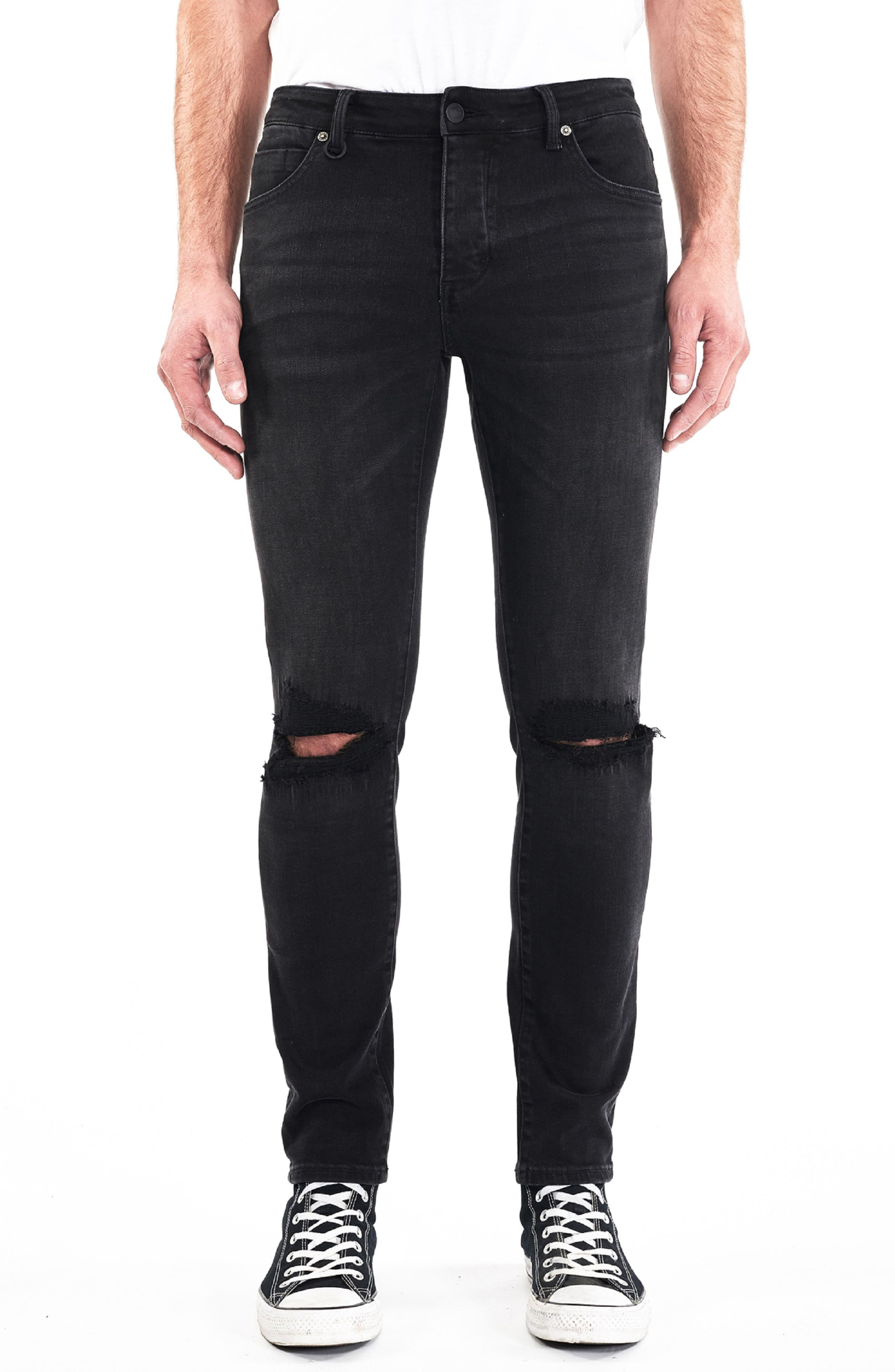 NEUW Ray Slouchy Slim Fit Jeans in Gravity Repaired