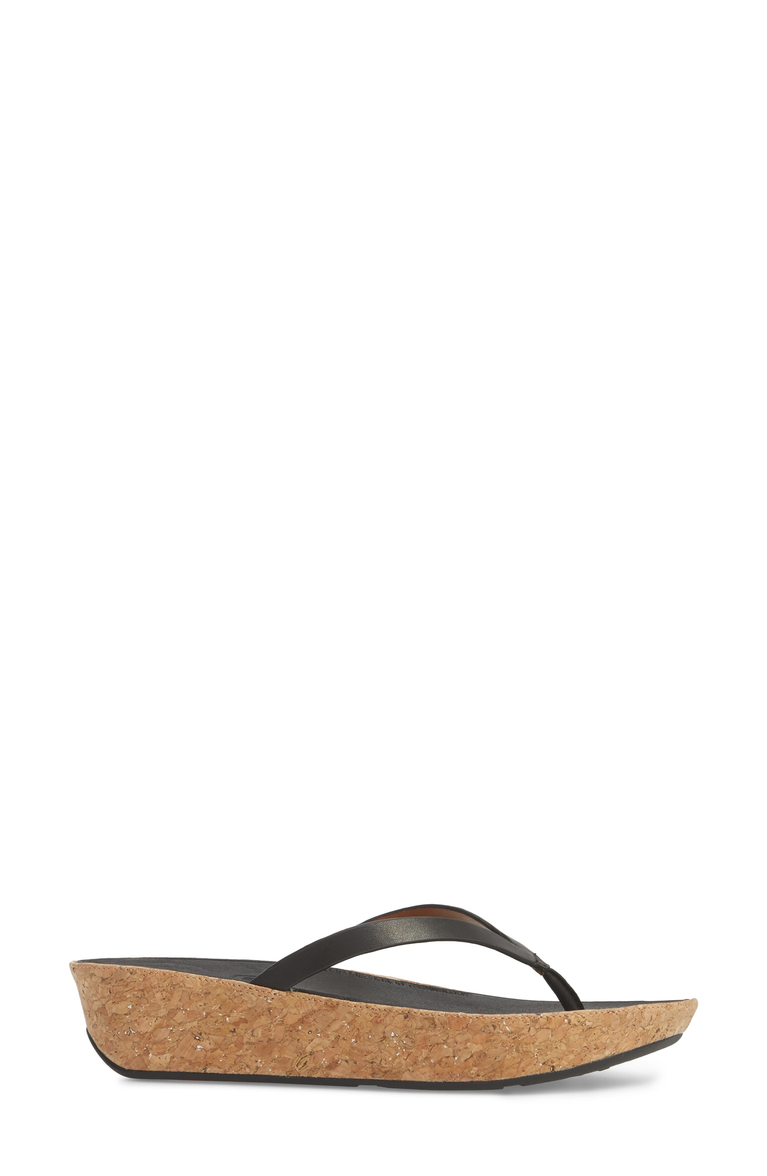 FITFLOP,                             Linny Wedge Flip Flop,                             Alternate thumbnail 3, color,                             001