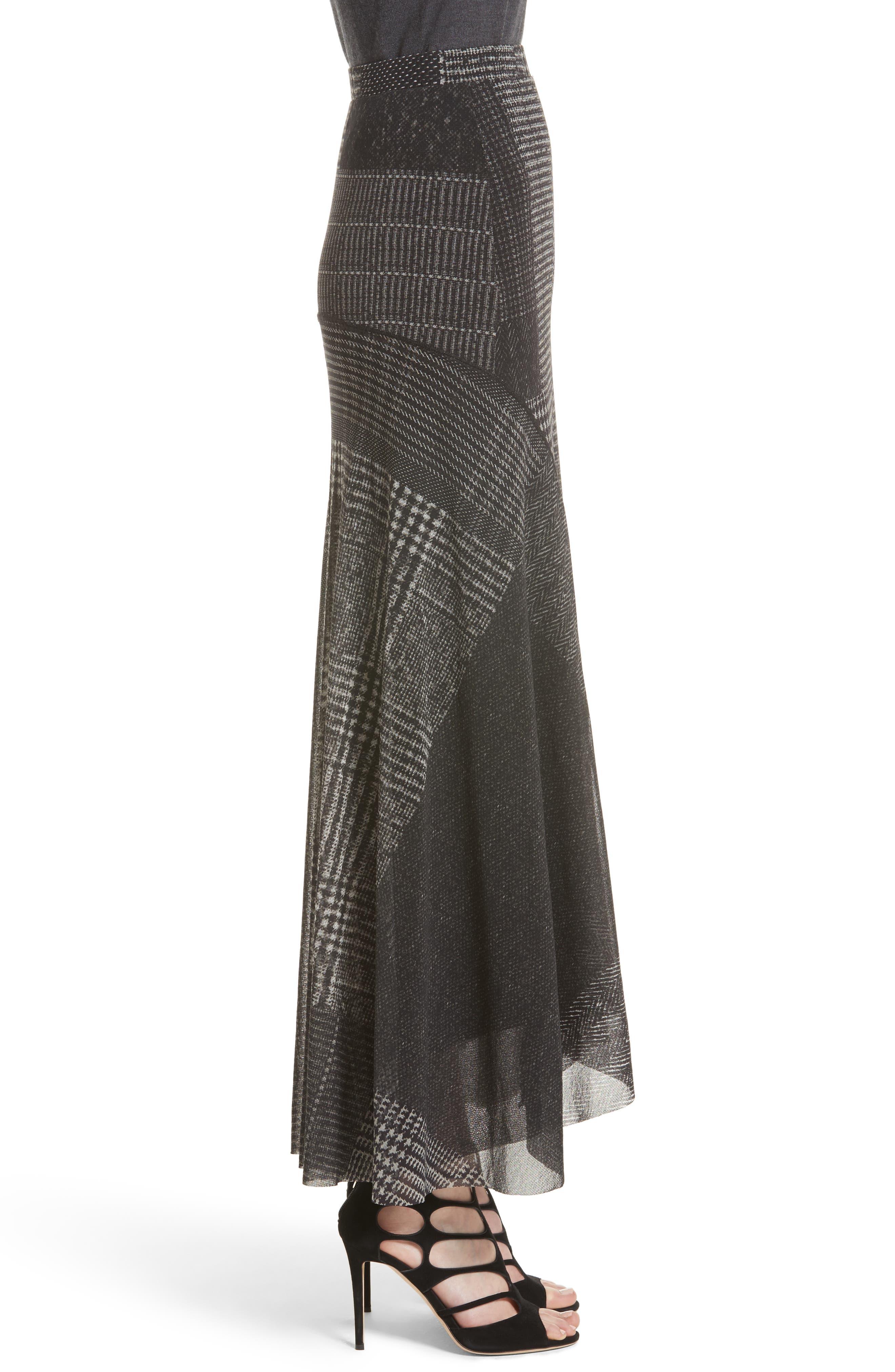 Tulle Maxi Skirt,                             Alternate thumbnail 3, color,                             001