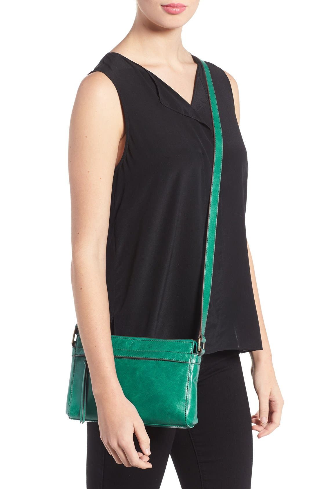 Tobey Leather Crossbody Bag,                             Alternate thumbnail 28, color,
