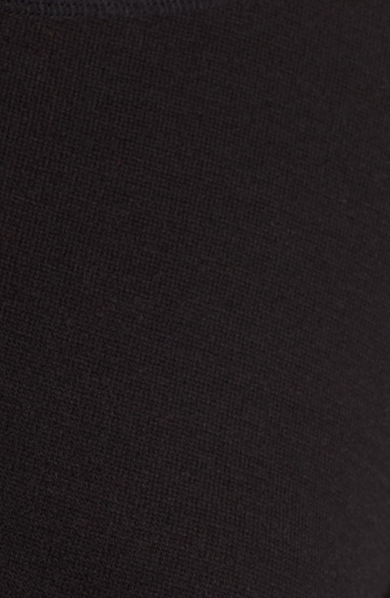 CASLON<SUP>®</SUP>,                             Three Quarter Sleeve Side Slit Tunic,                             Alternate thumbnail 5, color,                             001