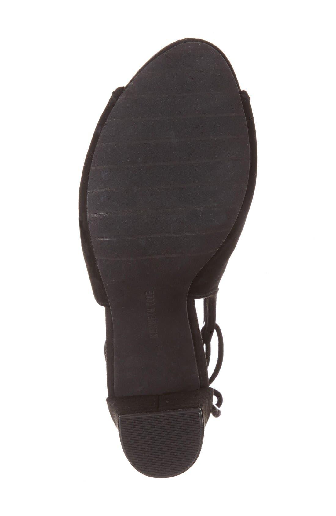 Darla Block Heel Sandal,                             Alternate thumbnail 4, color,                             001