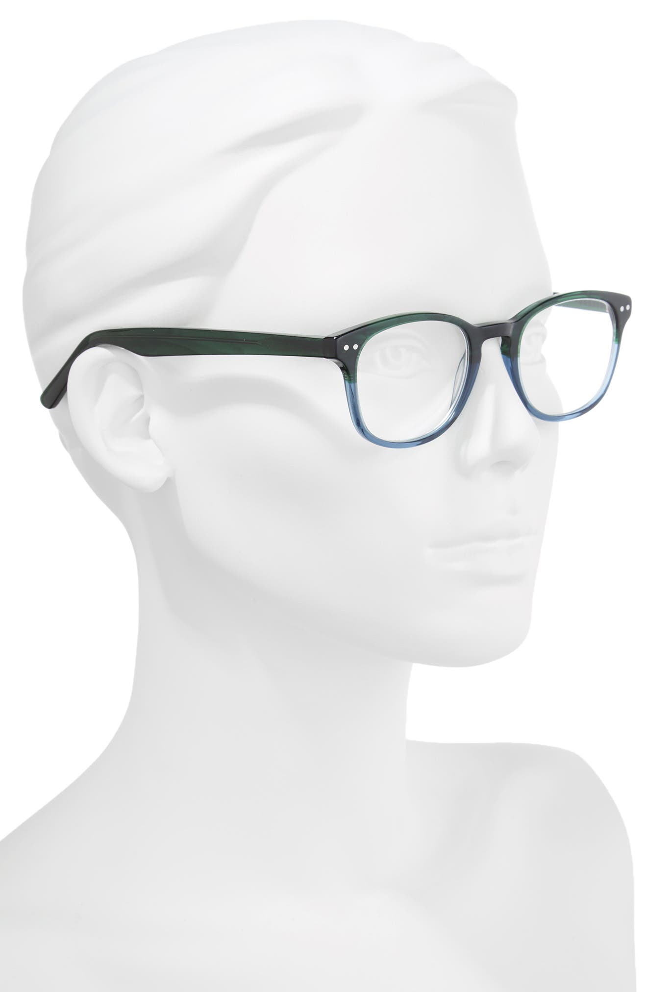Ricki 49mm Reading Glasses,                             Alternate thumbnail 2, color,                             GREEN
