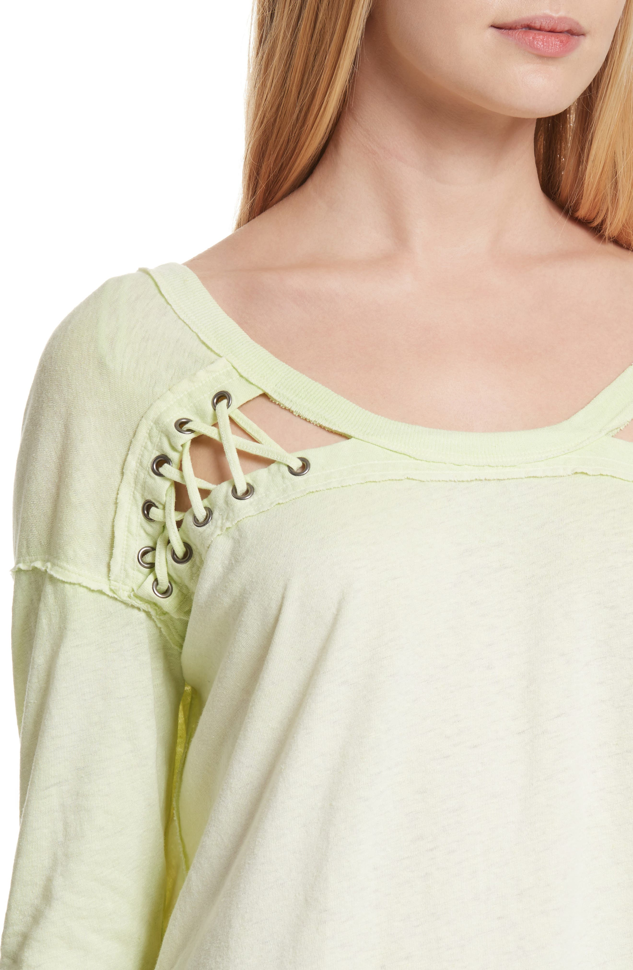 First Love Lace-Up Tee,                             Alternate thumbnail 18, color,