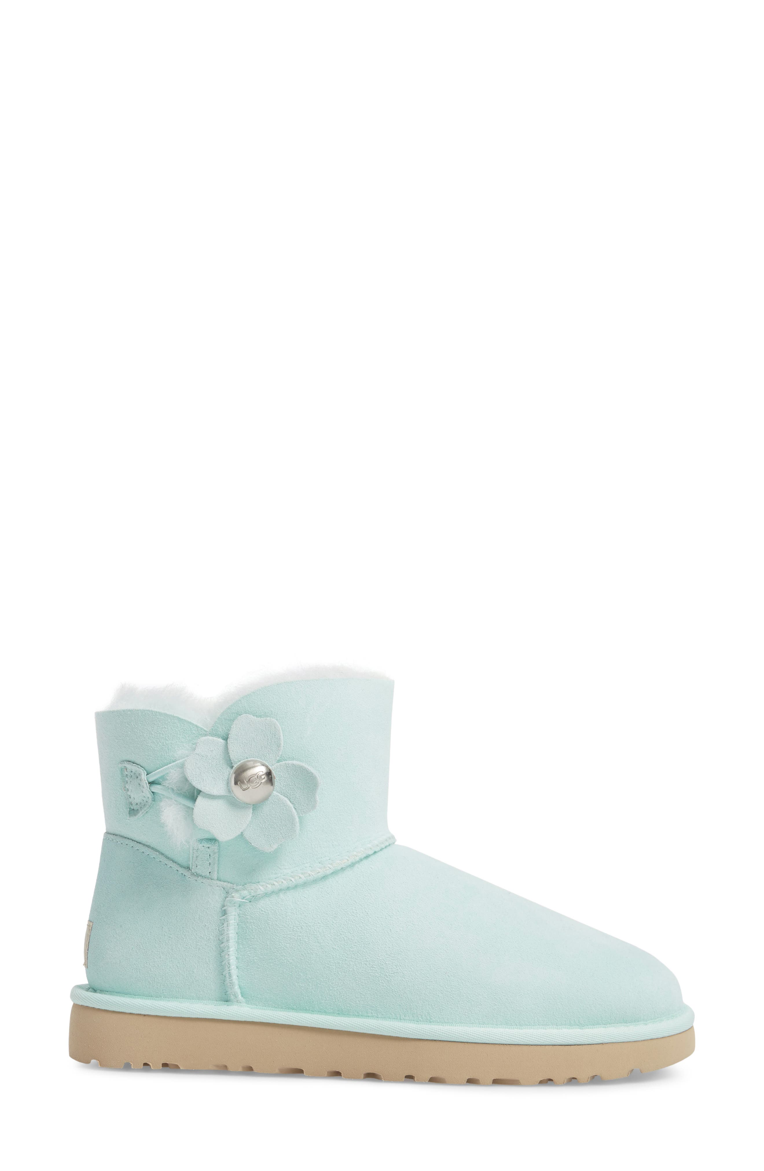 Mini Bailey Button Poppy Boot,                             Alternate thumbnail 3, color,