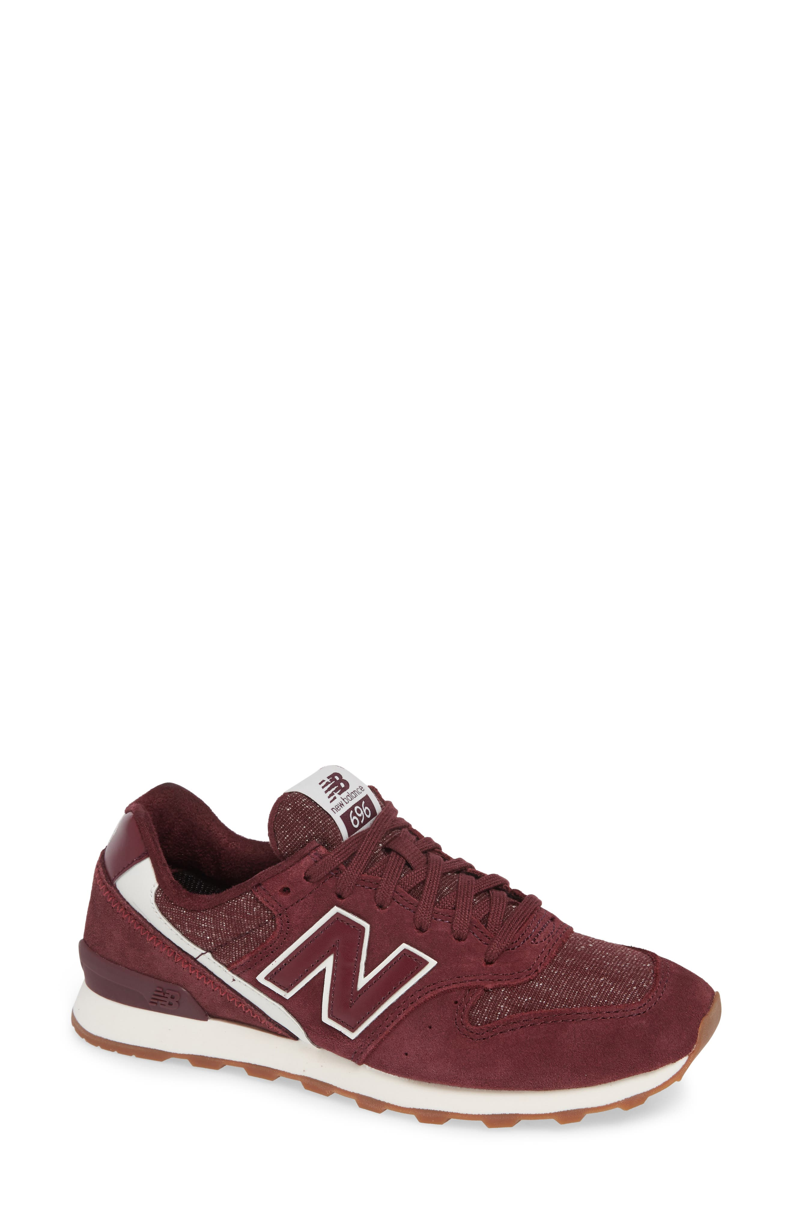 NEW BALANCE 696 Sneaker, Main, color, BURGUNDY