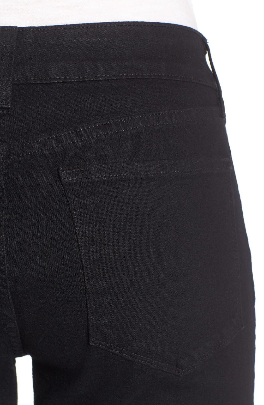 Barbara Stretch Bootcut Jeans,                             Alternate thumbnail 4, color,                             001