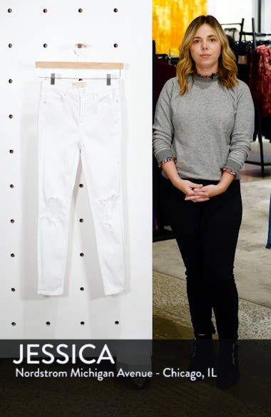 We the Free by Free People High Waist Busted Knee Skinny Jeans, sales video thumbnail