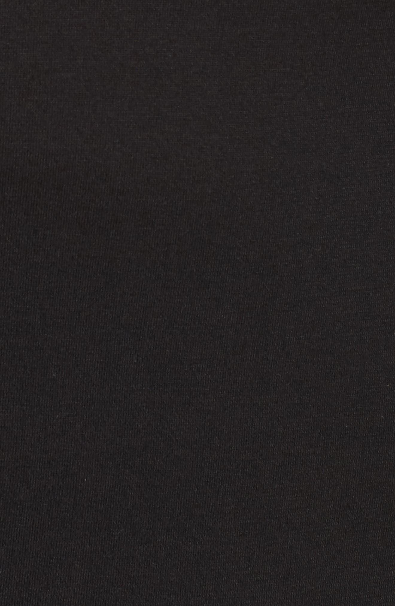 Long Sleeve Ruffle Shoulder Top,                             Alternate thumbnail 5, color,                             010