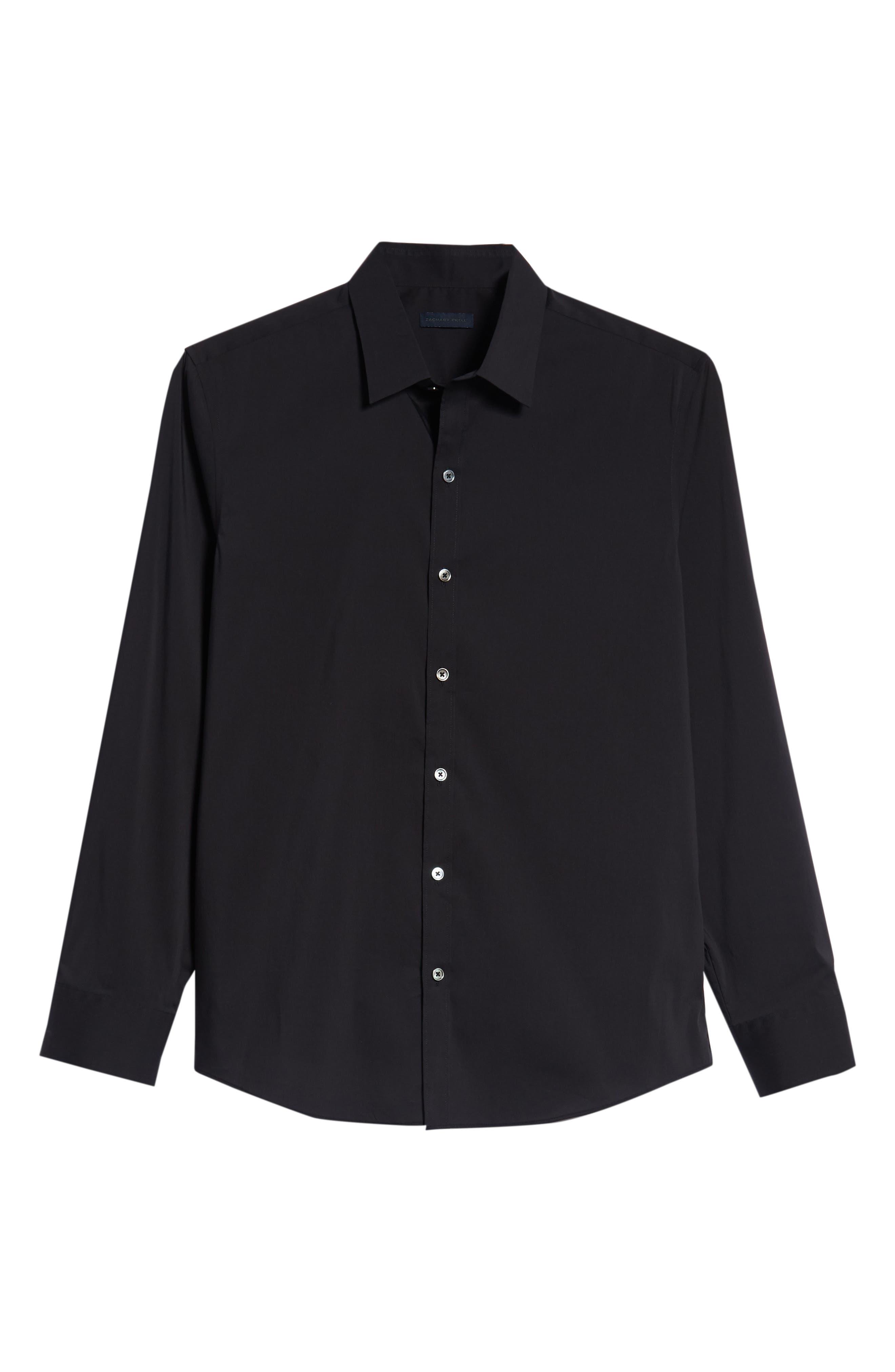Mulberry Regular Fit Sport Shirt,                             Alternate thumbnail 5, color,                             BLACK