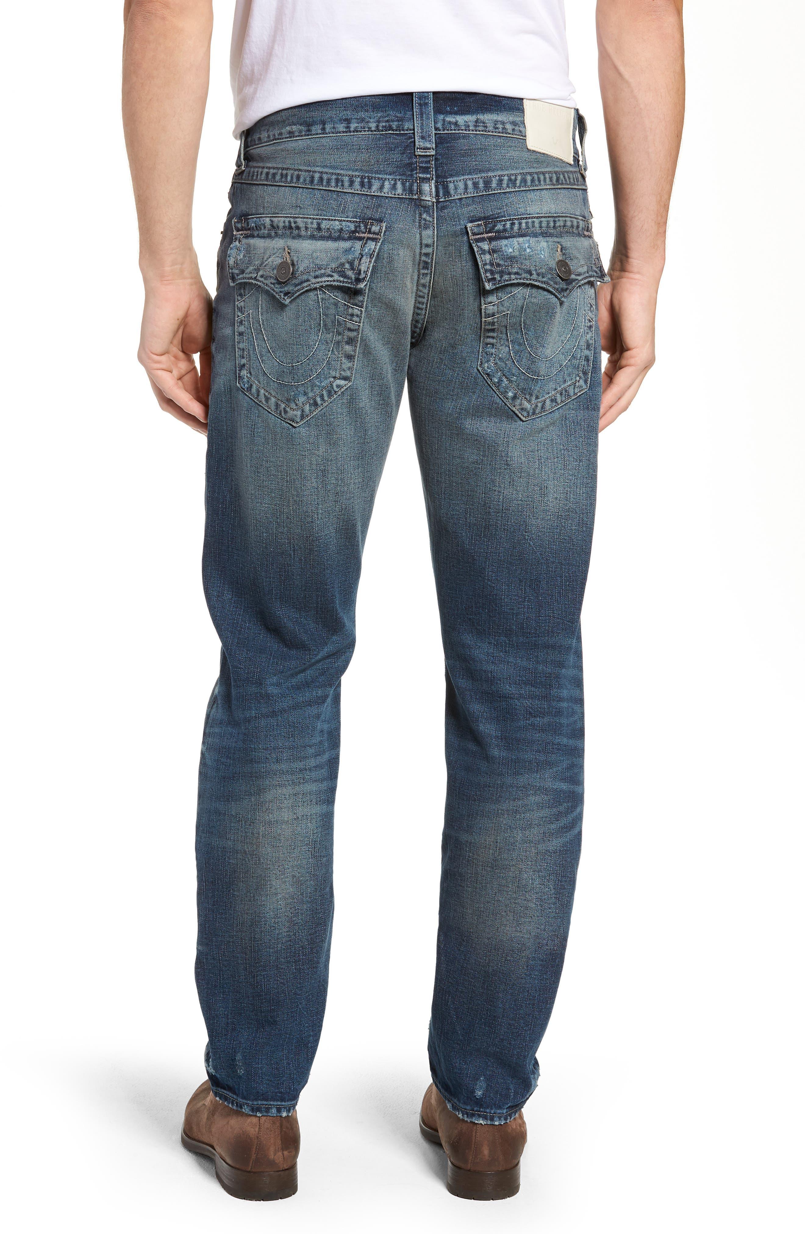 Geno Straight Leg Jeans,                             Alternate thumbnail 2, color,                             COMBAT BLUE