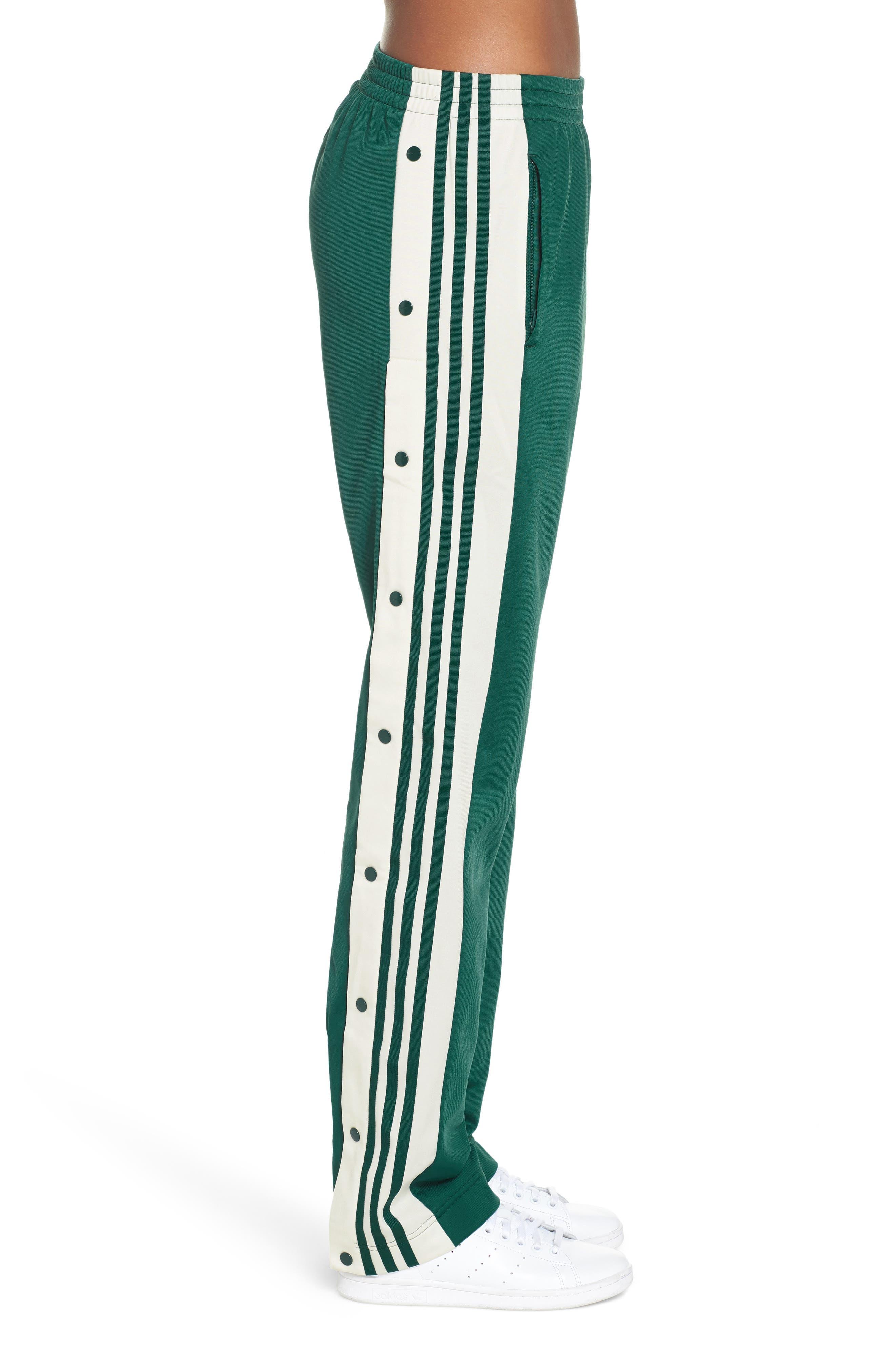 Adibreak Track Pants,                             Alternate thumbnail 3, color,                             NOBLE GREEN