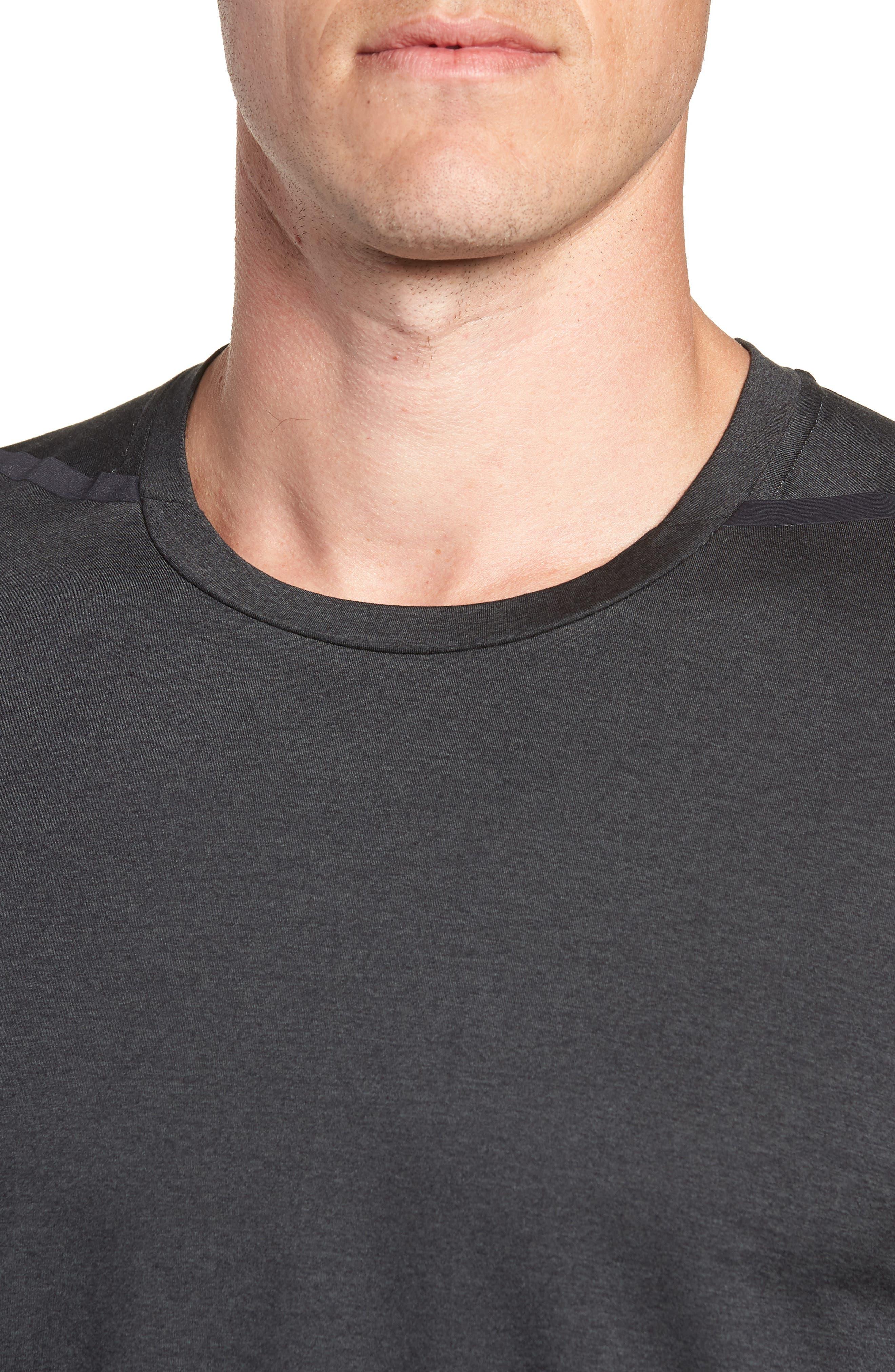 Dry Max Training T-Shirt,                             Alternate thumbnail 4, color,                             BLACK/ ANTHRACITE/ COBALT