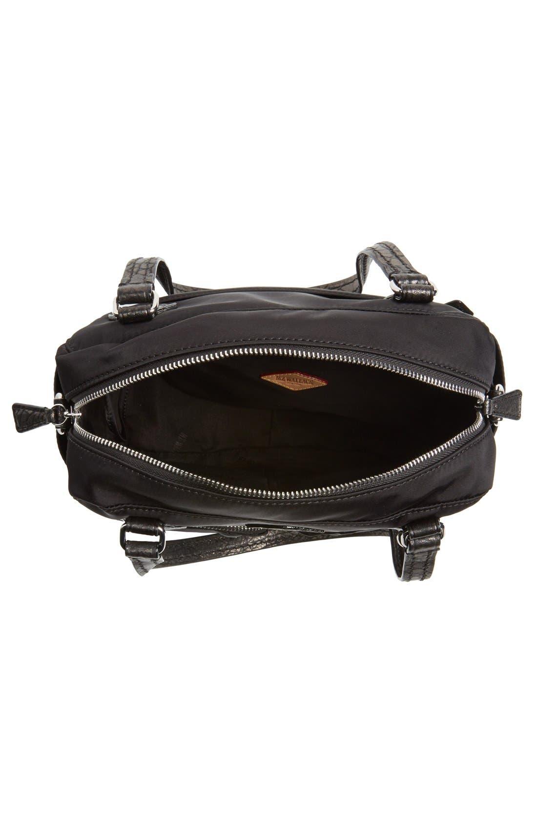 'Small Roxy' Bedford Nylon Shoulder Bag,                             Alternate thumbnail 4, color,                             001