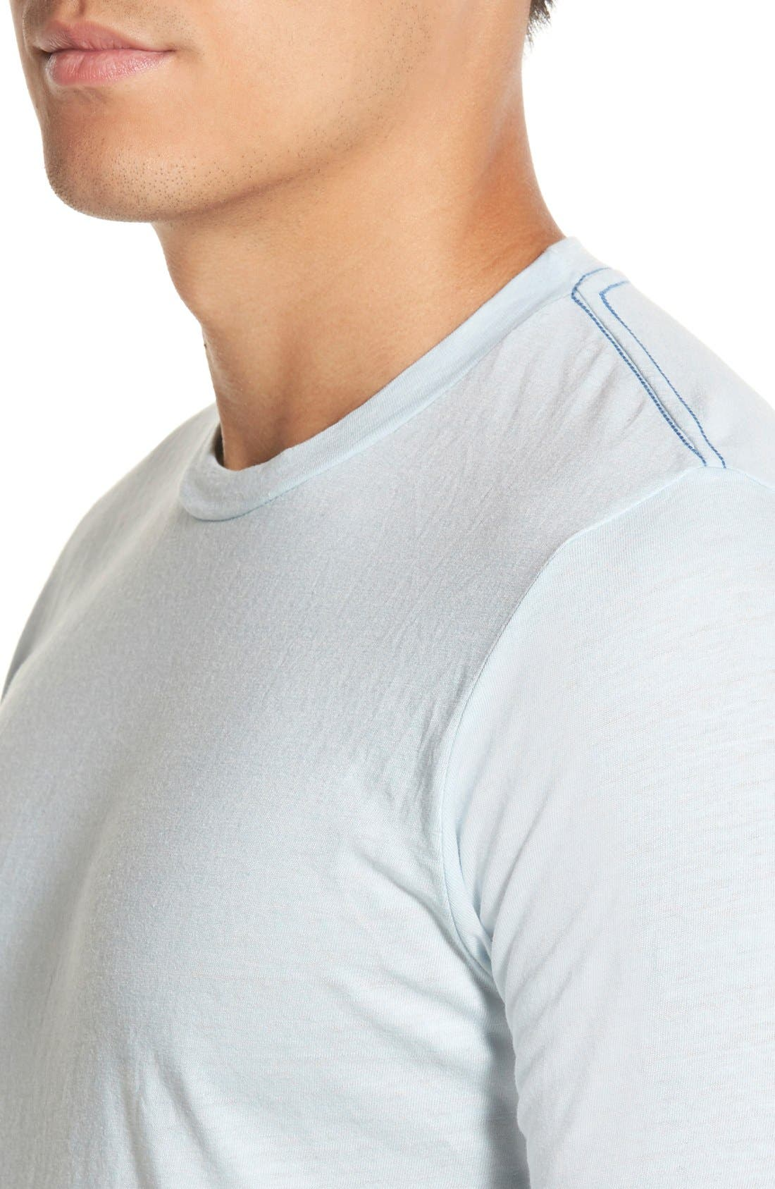 Scallop Triblend Crewneck T-Shirt,                             Alternate thumbnail 112, color,