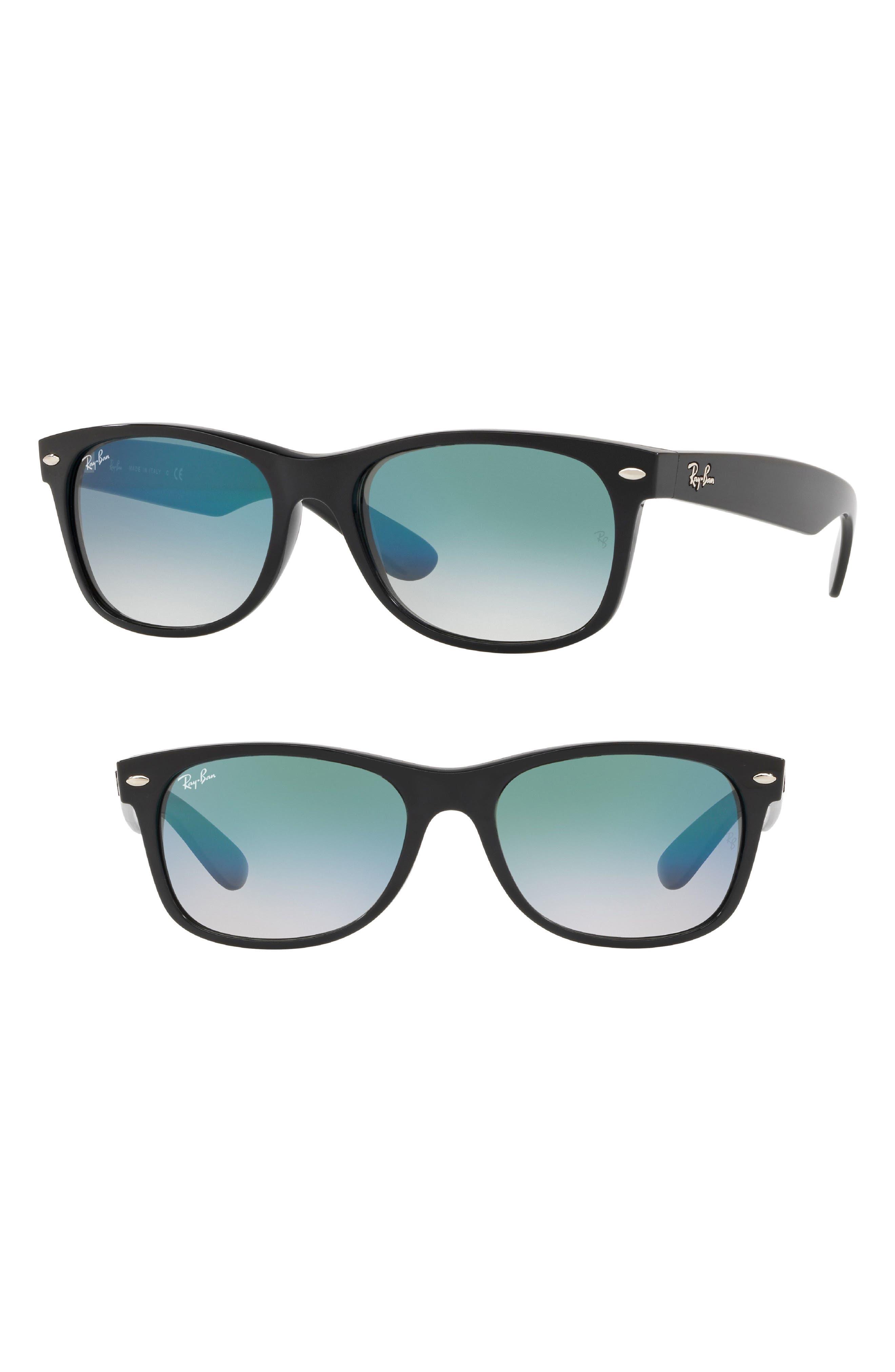 55mm New Wayfarer Sunglasses,                             Main thumbnail 1, color,                             OLIVE