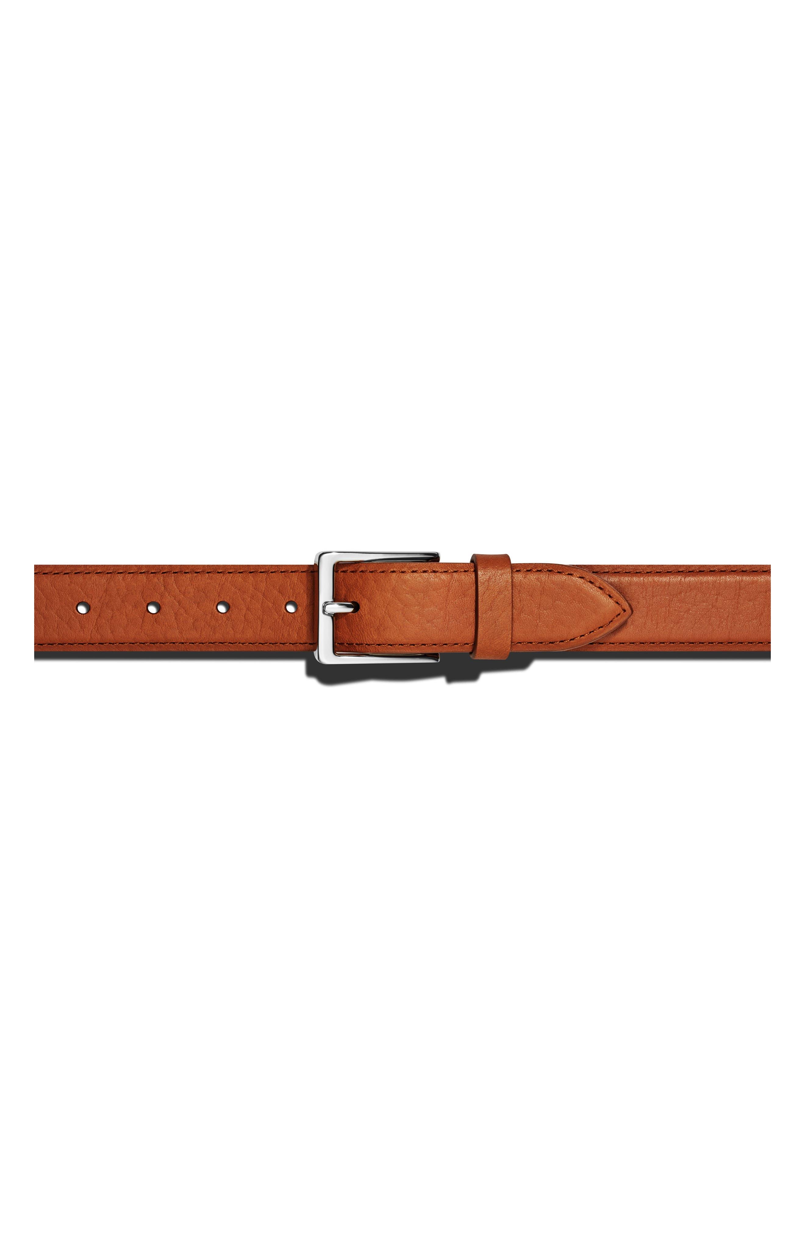 Bombay Tab Leather Belt,                             Main thumbnail 1, color,                             BOURBON