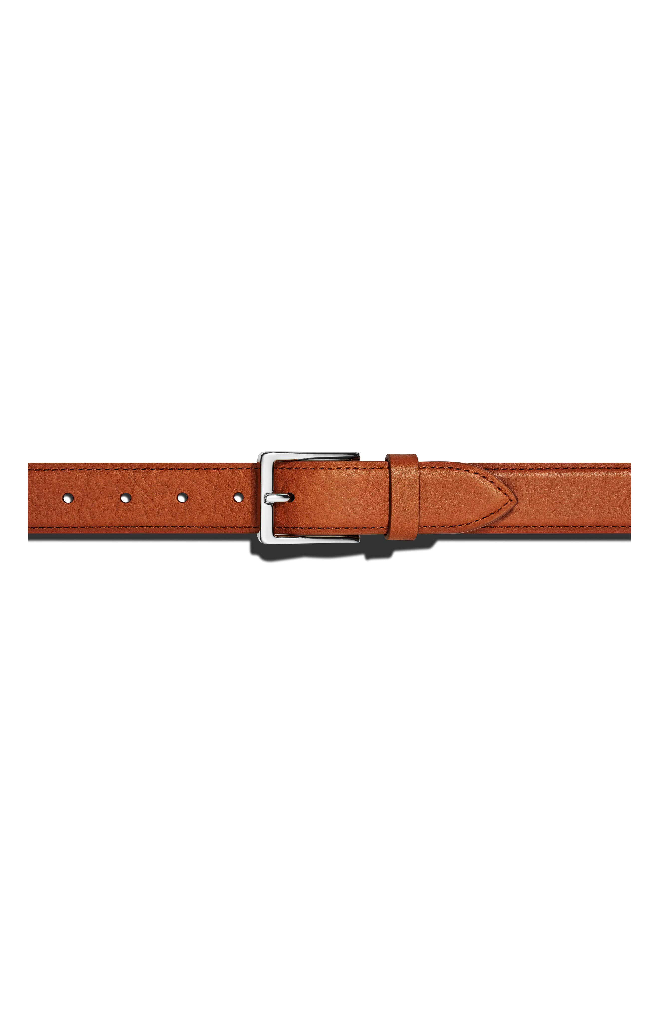 Bombay Tab Leather Belt,                         Main,                         color, BOURBON