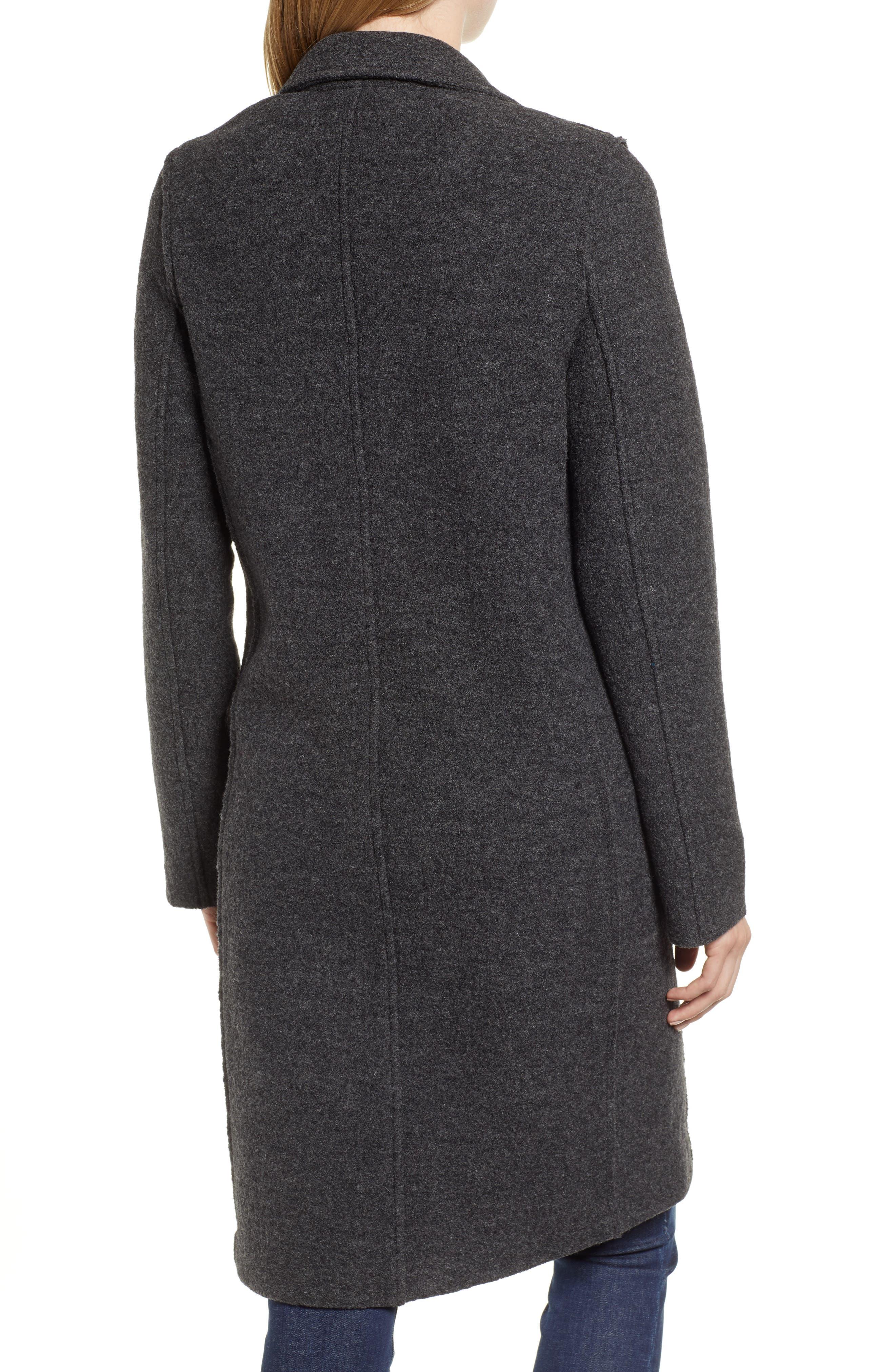 Daphne Boiled Wool Topcoat,                             Alternate thumbnail 2, color,                             022