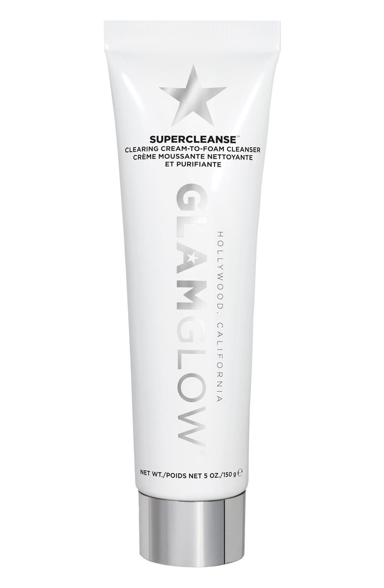 SUPERCLEANSE<sup>™</sup> Clearing Cream-to-Foam Cleanser,                             Main thumbnail 1, color,                             NO COLOR