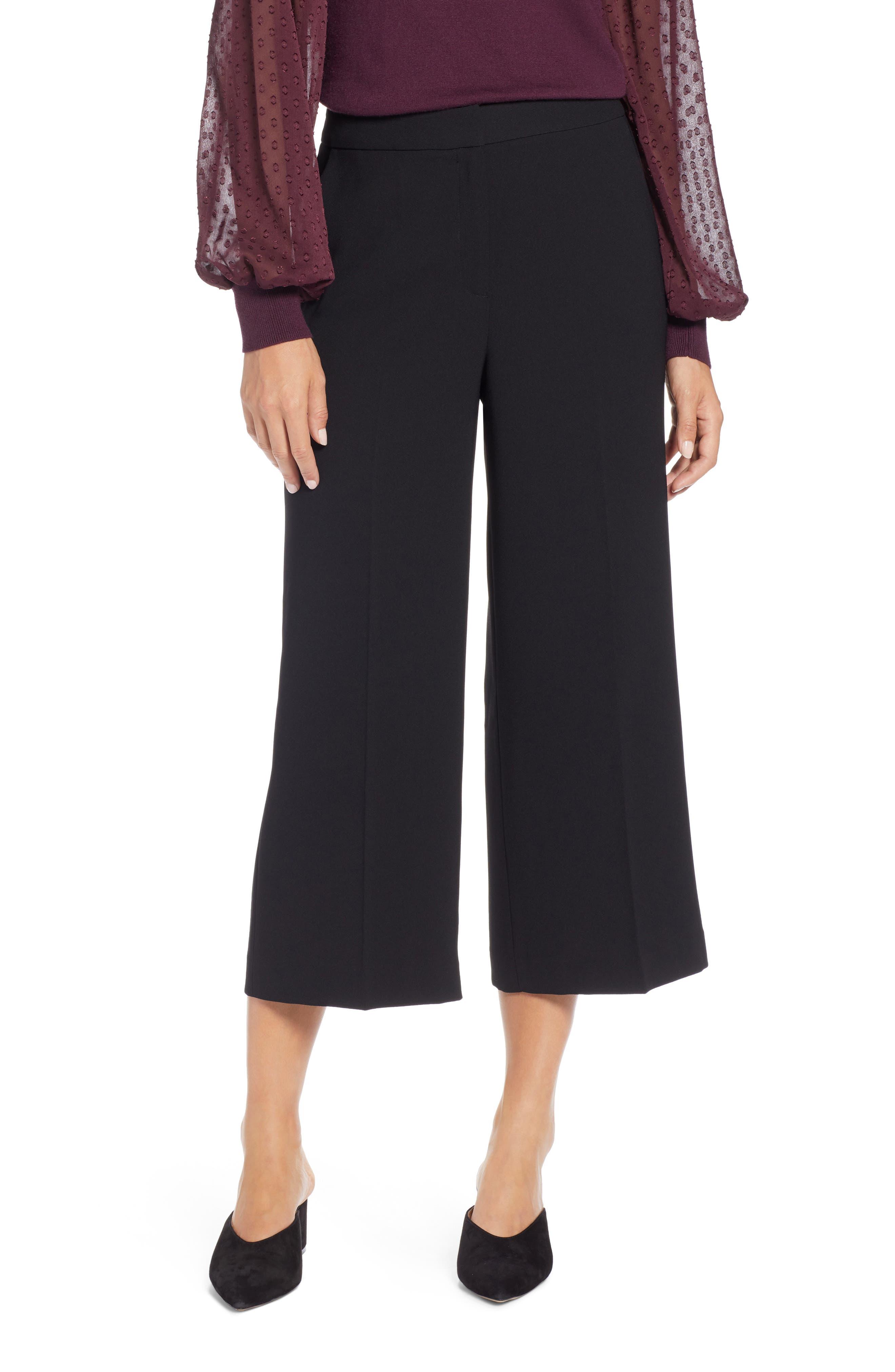 Wide Leg Crop Pants,                             Main thumbnail 1, color,                             001
