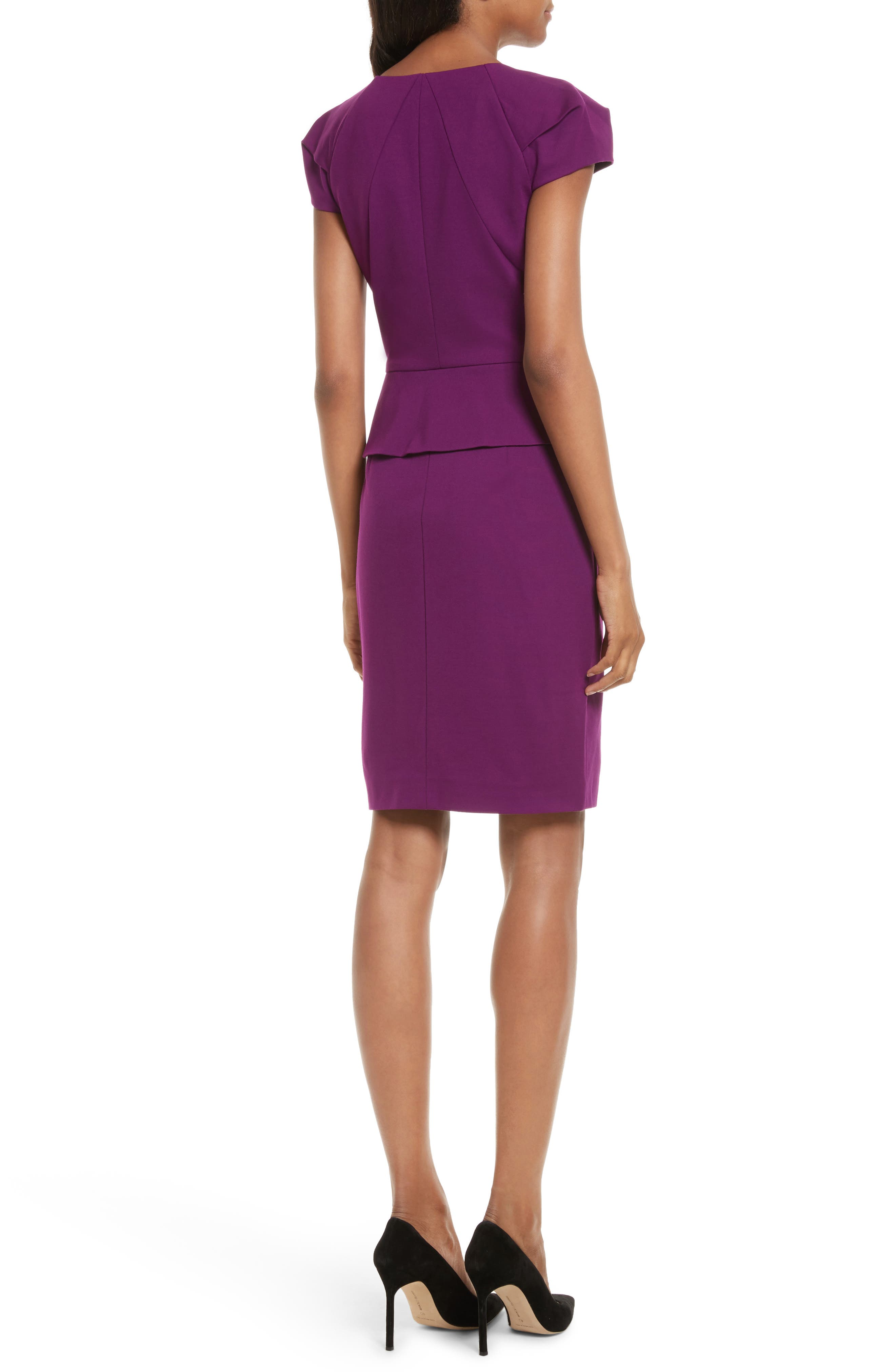 Fidelle Structured Peplum Dress,                             Alternate thumbnail 2, color,                             501