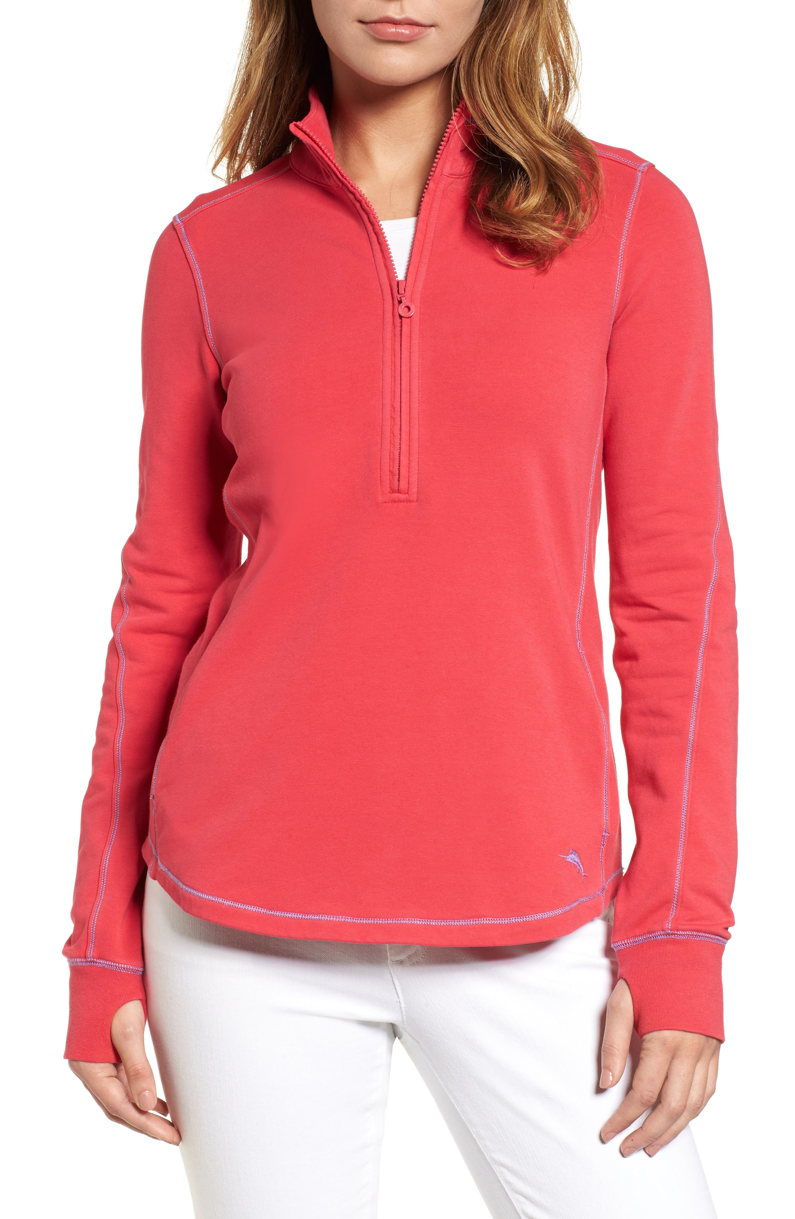Tommy Bahama Jen And Terry Half Zip Top, Pink