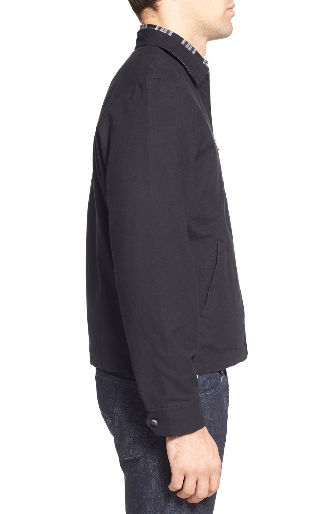 'Sedona' Zip Front Canvas Jacket,                             Alternate thumbnail 2, color,                             001