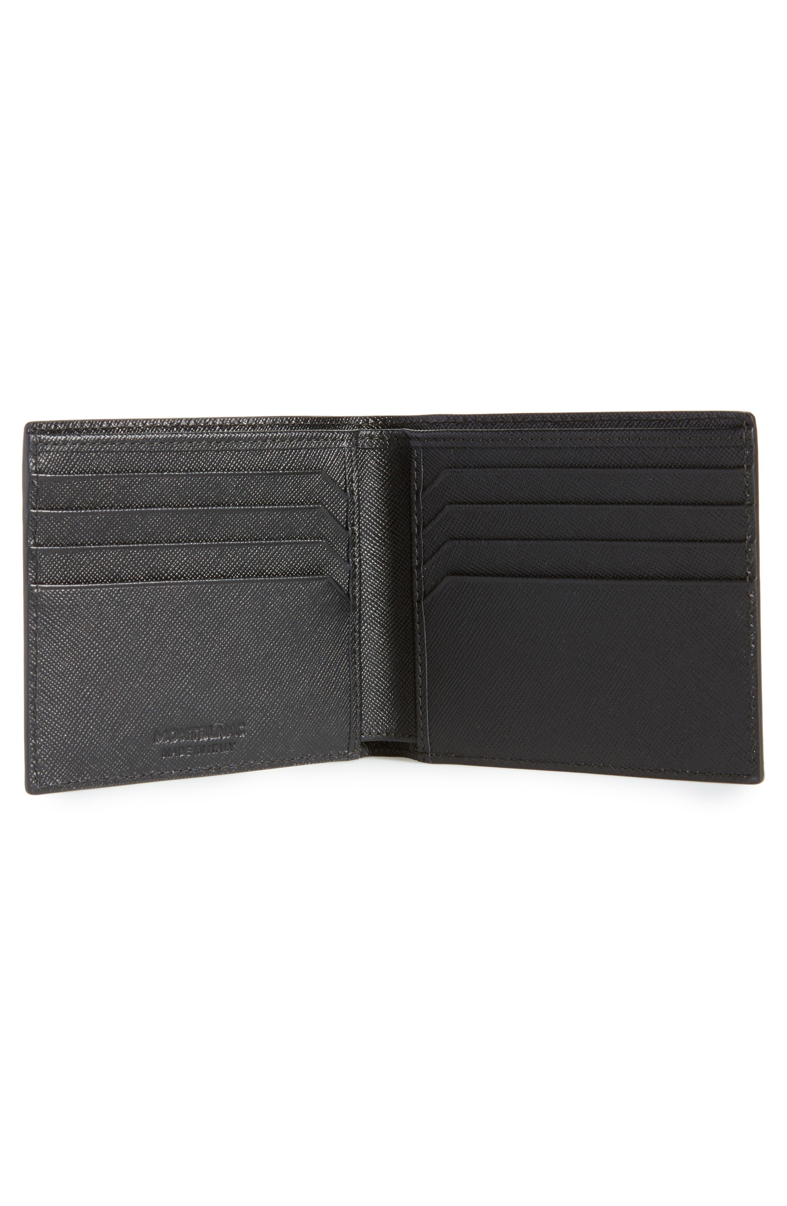Sartorial Leather Wallet,                             Alternate thumbnail 2, color,                             BLACK