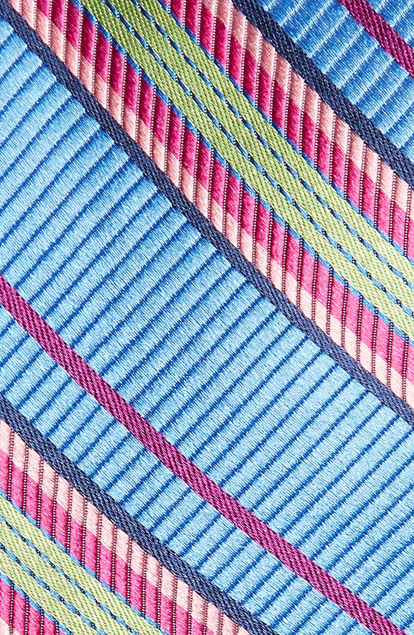 Soho Stripe Silk Tie,                             Alternate thumbnail 2, color,                             BLUE