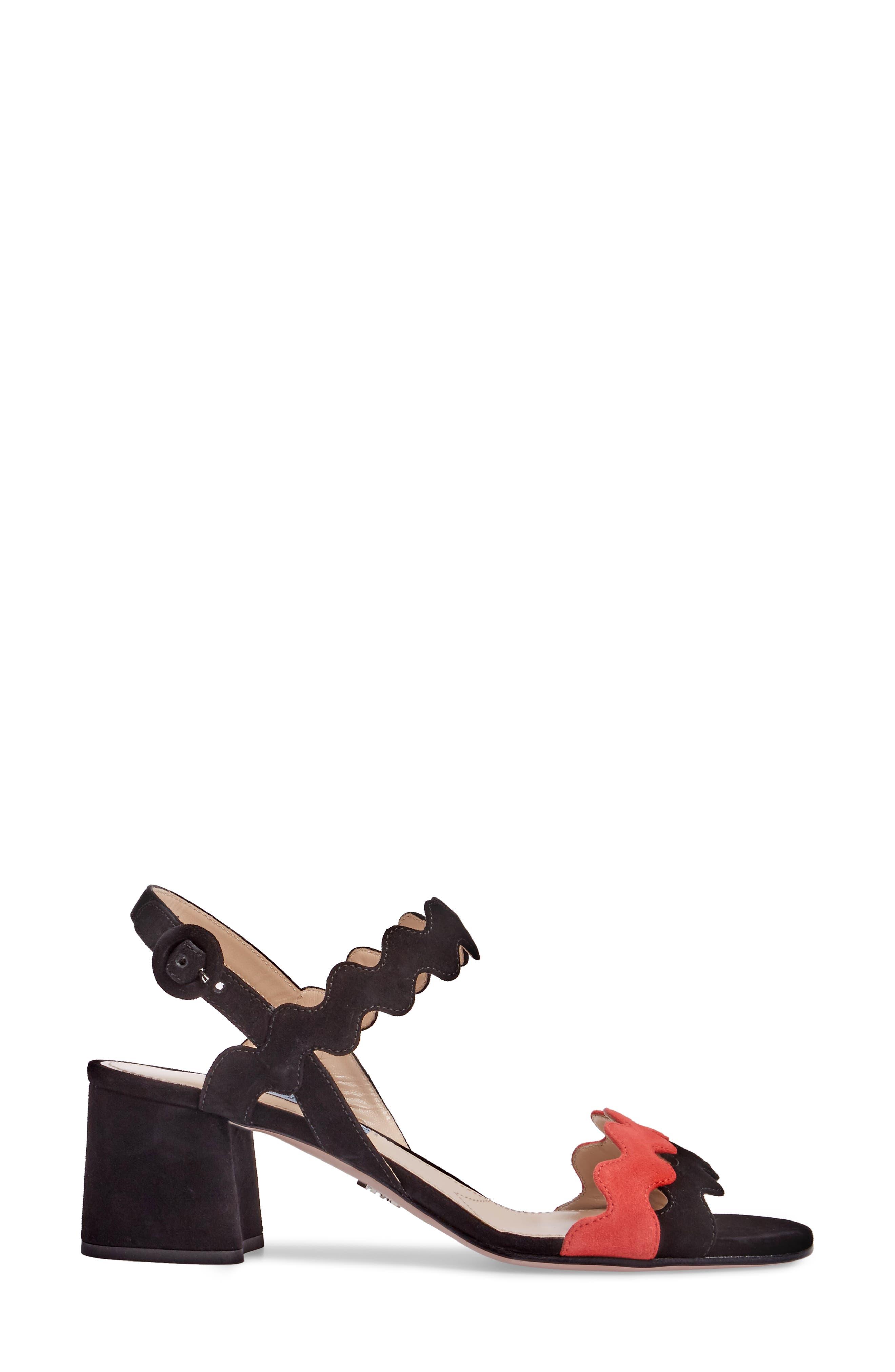 Double Strap Wave Sandal,                             Alternate thumbnail 3, color,                             001
