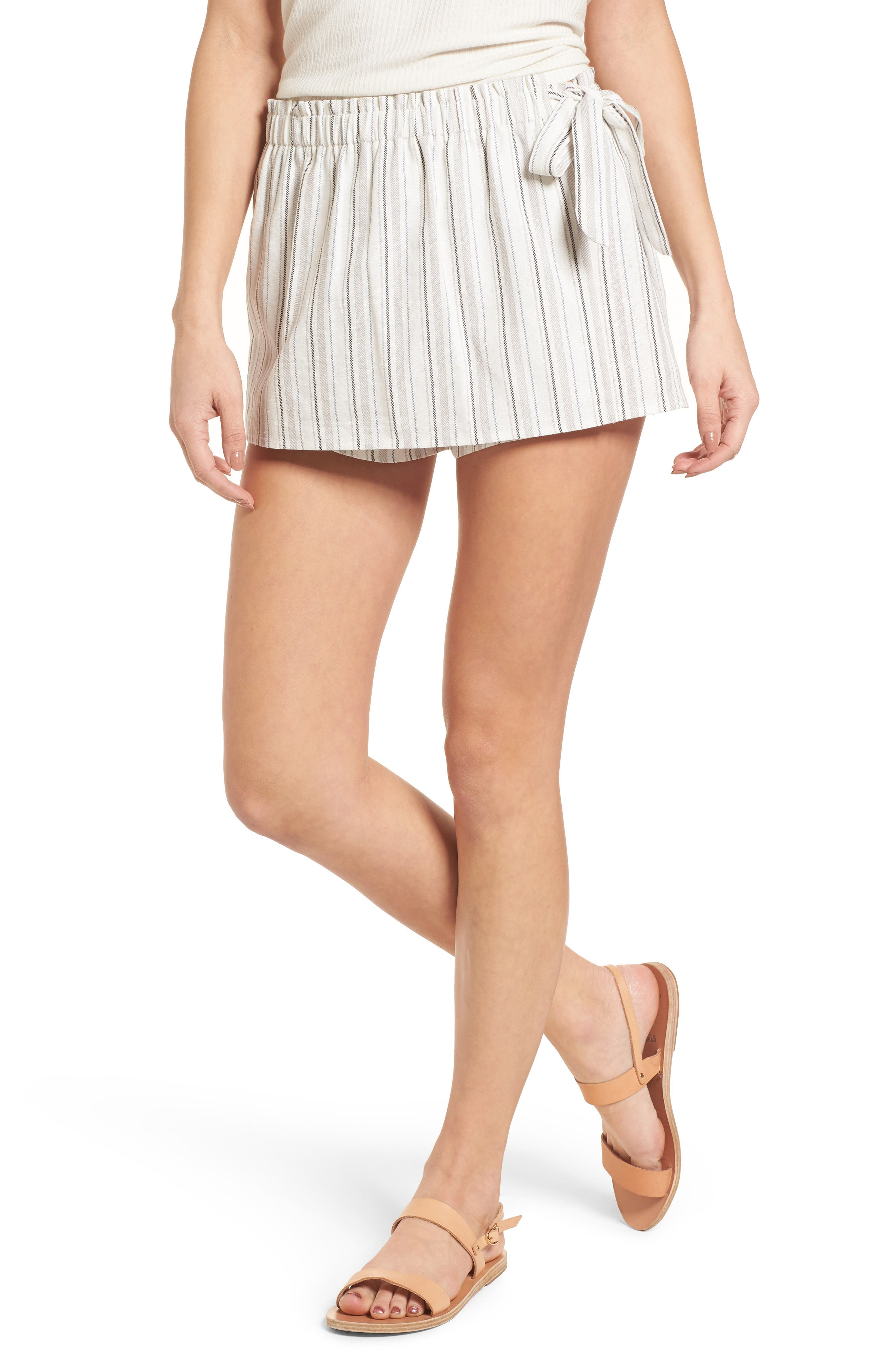 Side Tie Stripe Skort,                         Main,                         color, 250