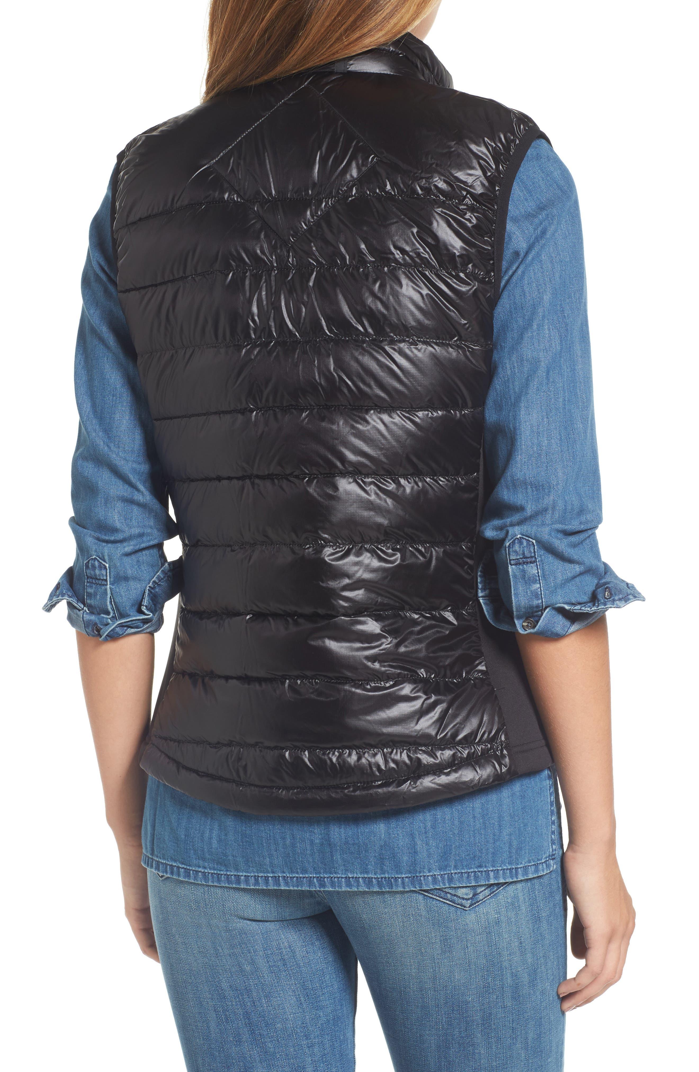 'Hybridge Lite' Slim Fit Packable Down Vest,                             Alternate thumbnail 2, color,                             BLACK/ GRAPHITE
