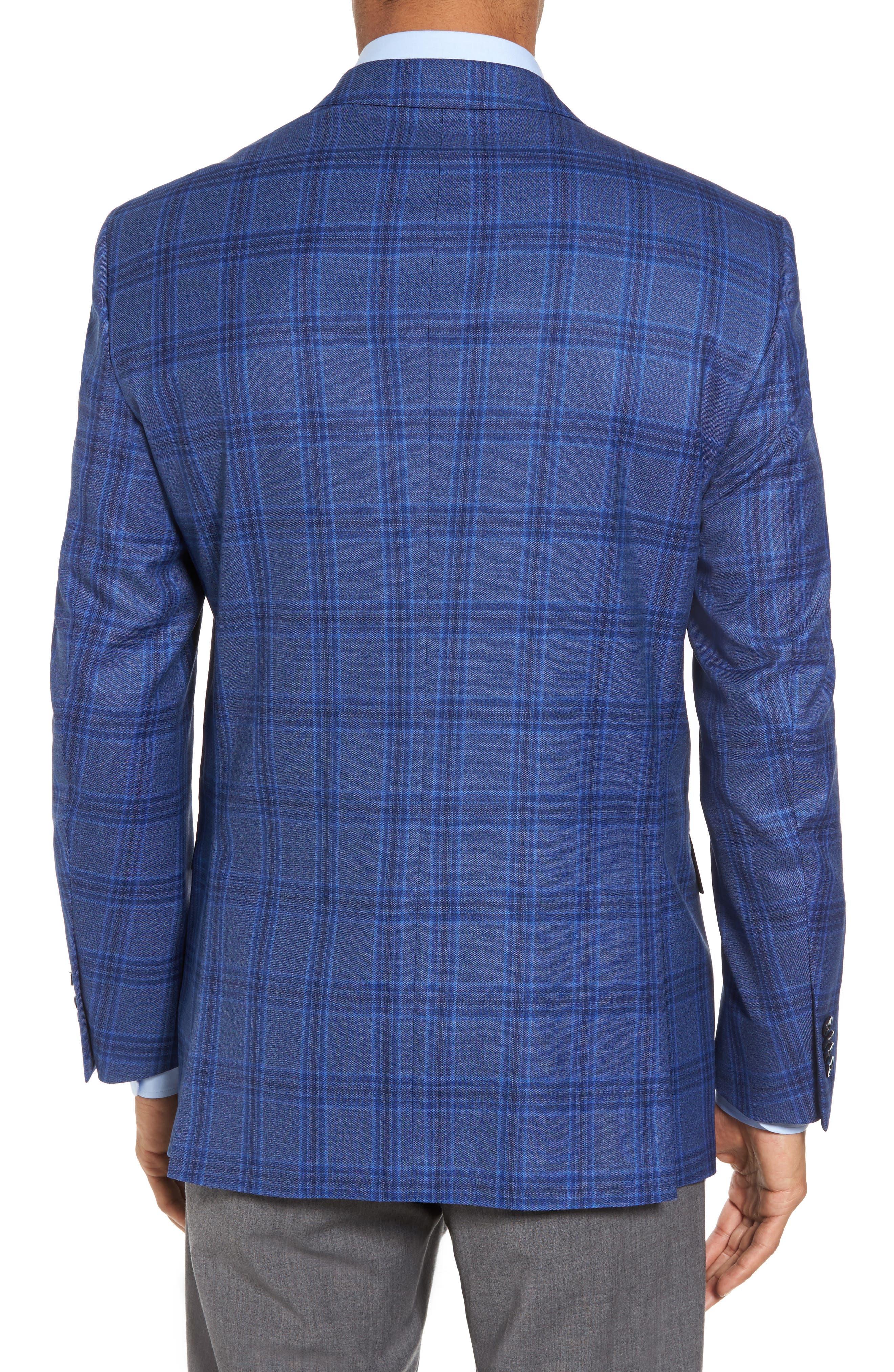 Classic Fit Plaid Wool Sport Coat,                             Alternate thumbnail 2, color,                             400