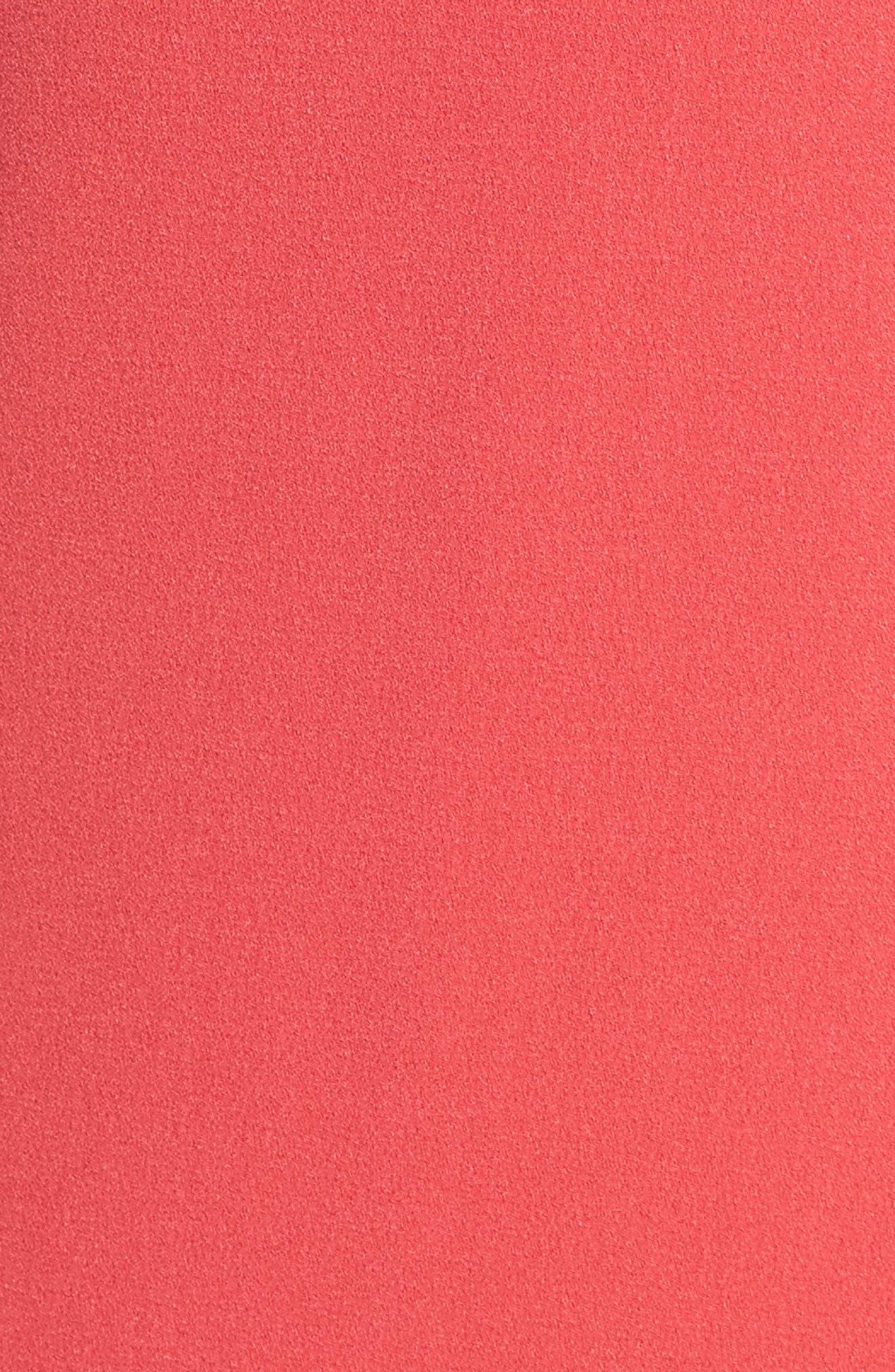 Tie Neck Flounce Hem Dress,                             Alternate thumbnail 5, color,