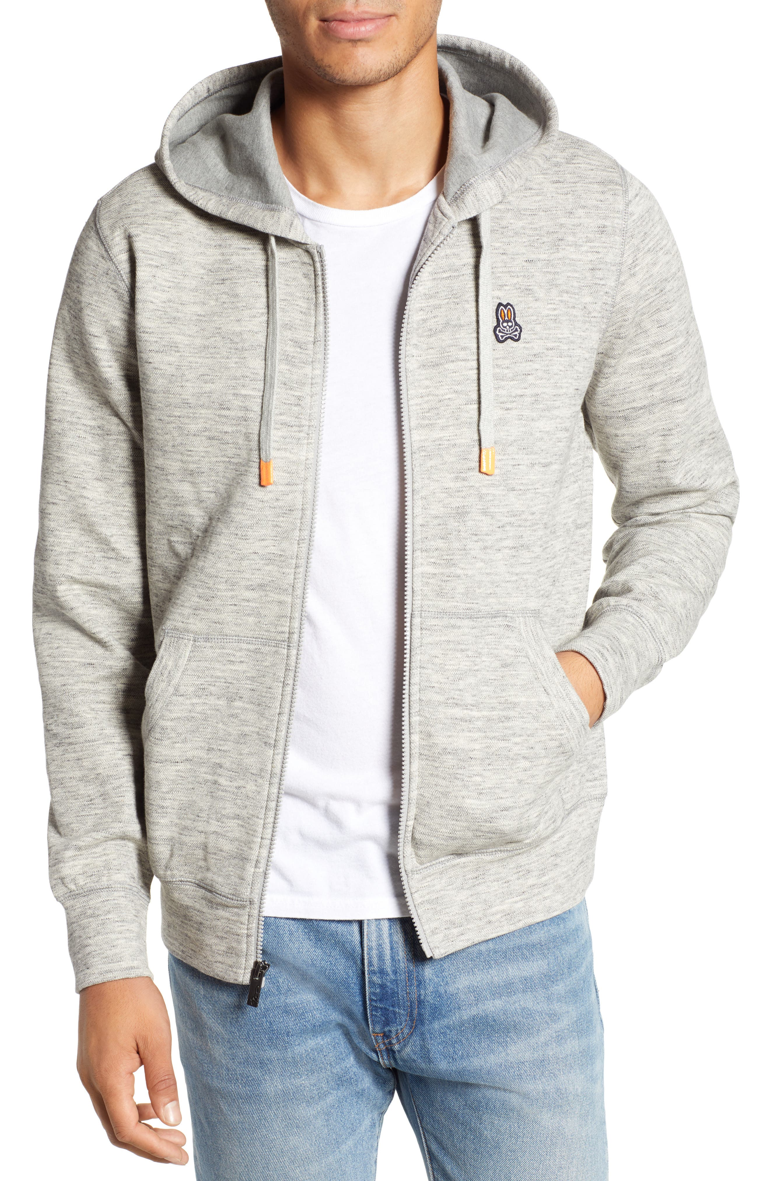 Newry Double Face Zip Hoodie,                         Main,                         color, HEATHER GREY
