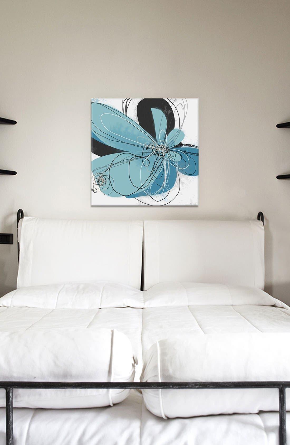 'Azul Poetry' Giclée Print Canvas Art,                             Alternate thumbnail 2, color,
