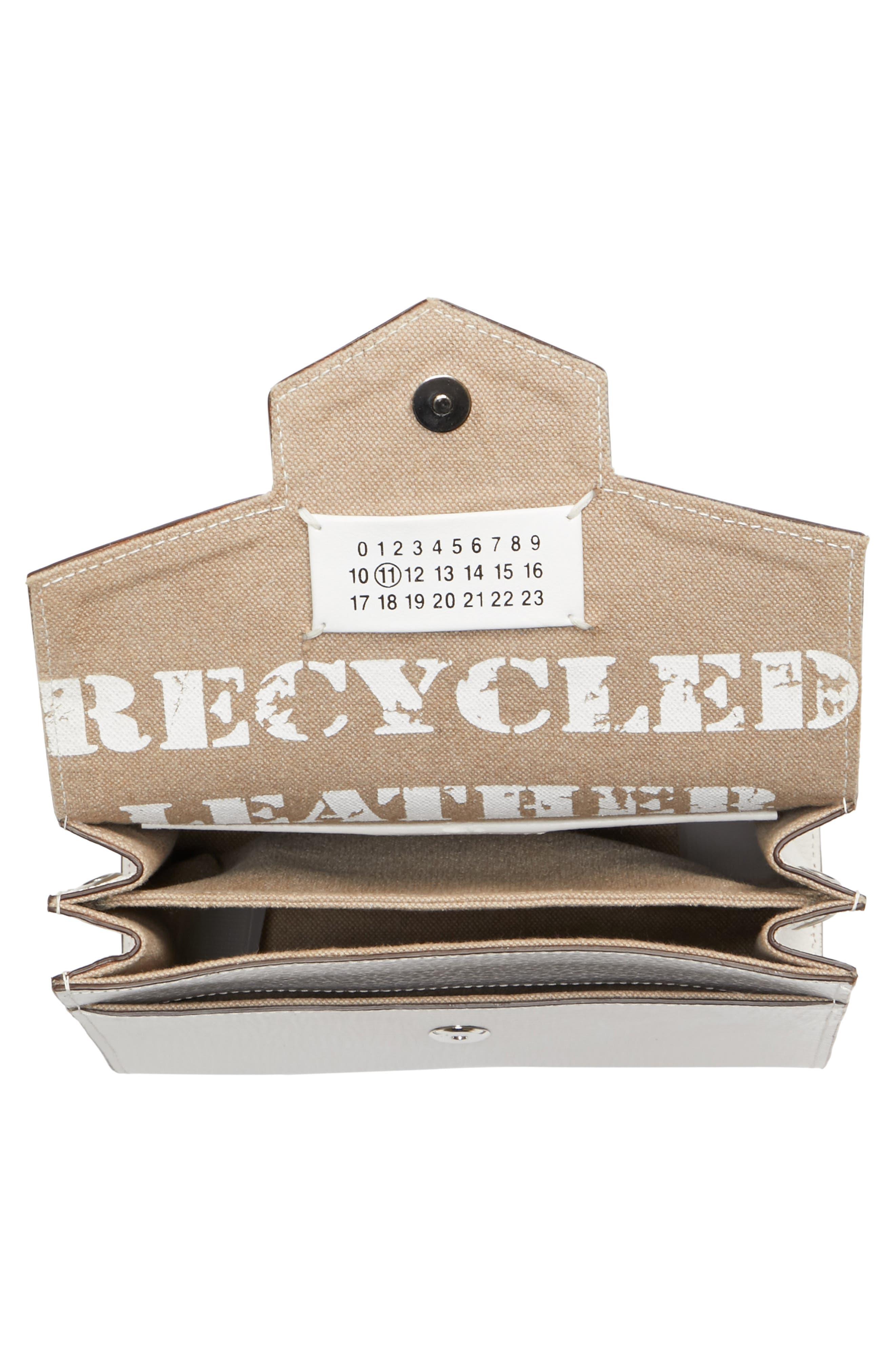 Bonded Leather Crossbody Bag,                             Alternate thumbnail 4, color,                             100