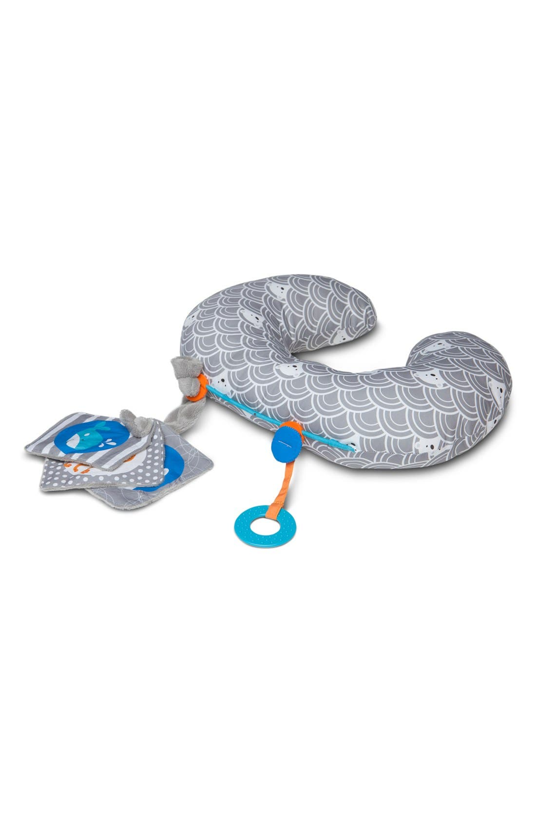 Tummy Time - SlideLine Collection Mini Pillow, Book & Teething Ring,                             Alternate thumbnail 3, color,                             GREY