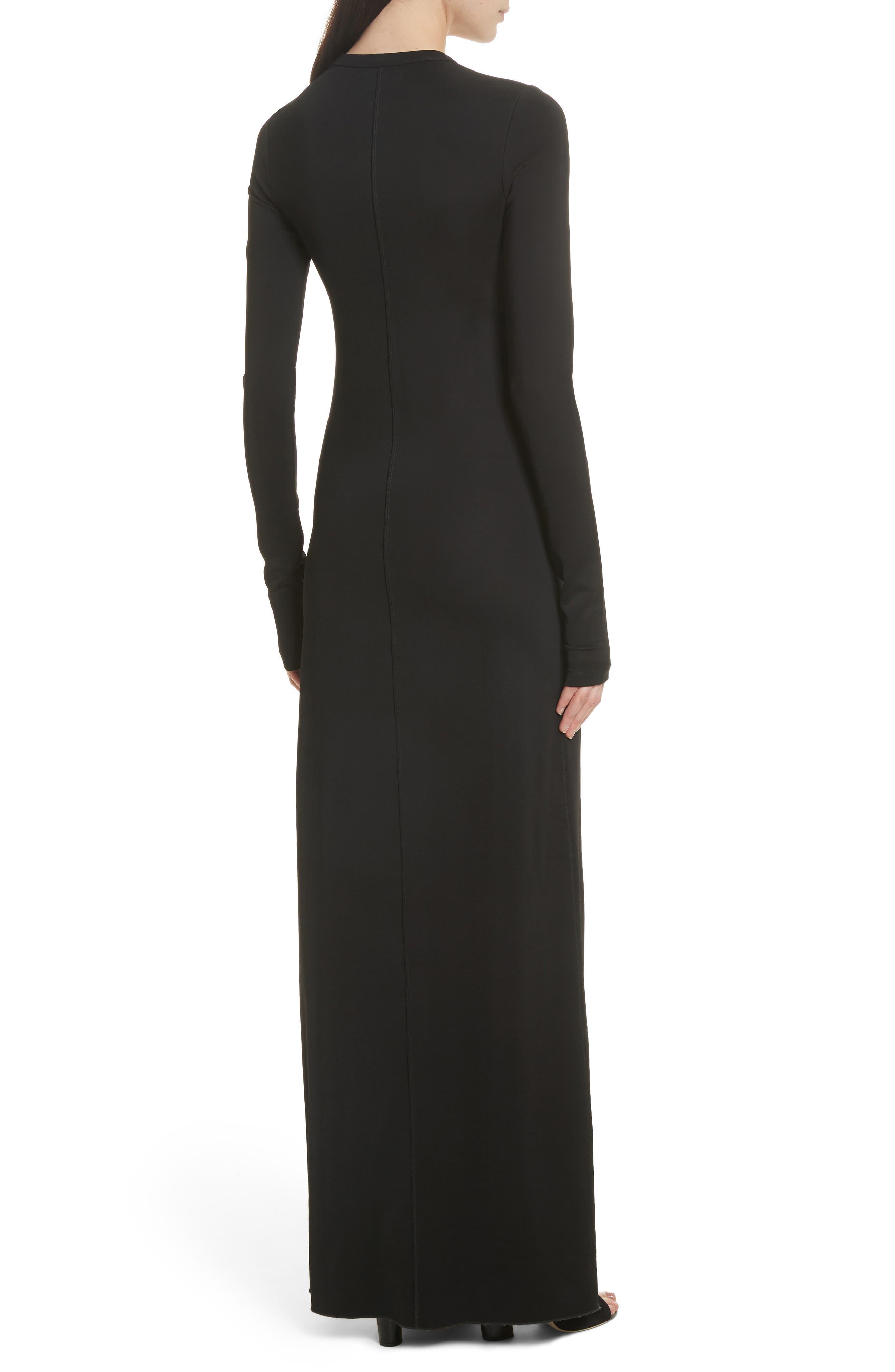 Fallon Slit Skirt Jersey Maxi Dress,                             Alternate thumbnail 2, color,                             001