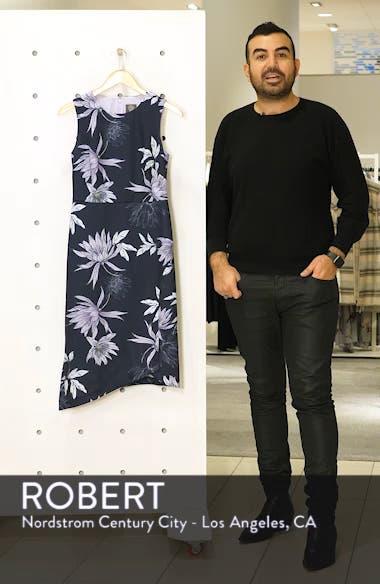 Floral Print Asymmetrical Hem Dress, sales video thumbnail
