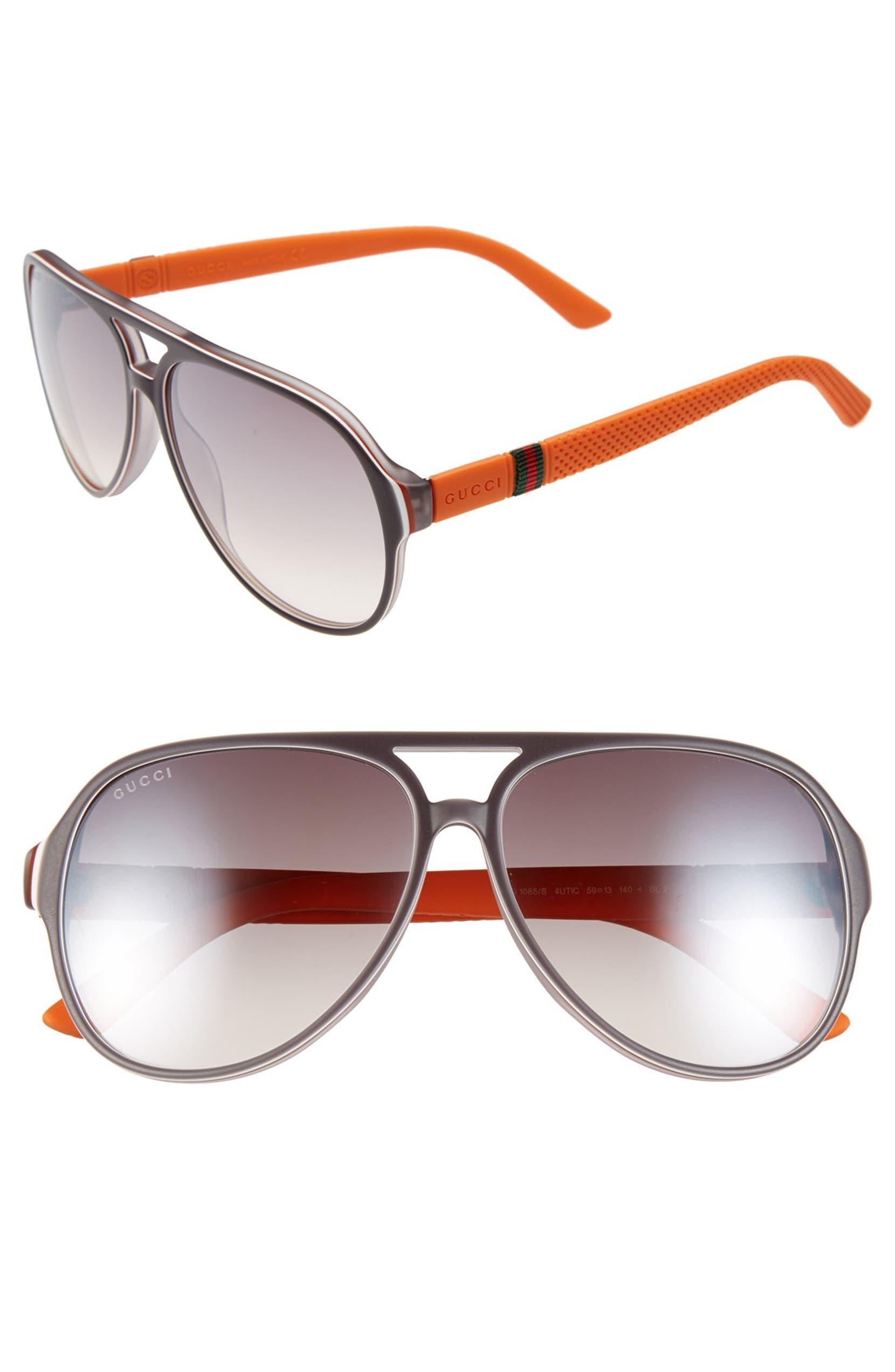30abf88e3b Gucci  1065S  59mm Polarized Aviator Sunglasses