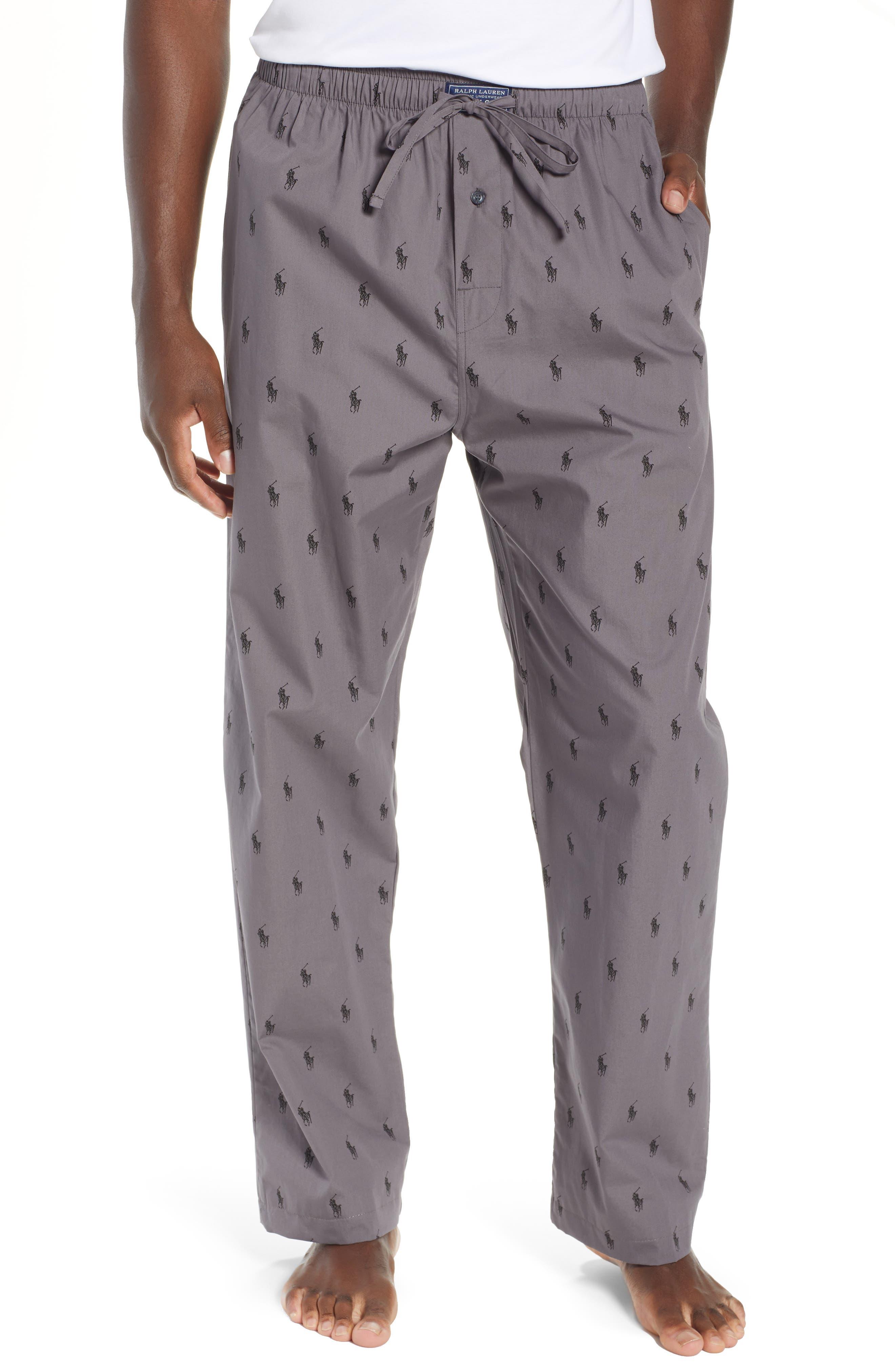 RALPH LAUREN,                             Polo Ralph Lauren Woven Pajama Pants,                             Main thumbnail 1, color,                             021