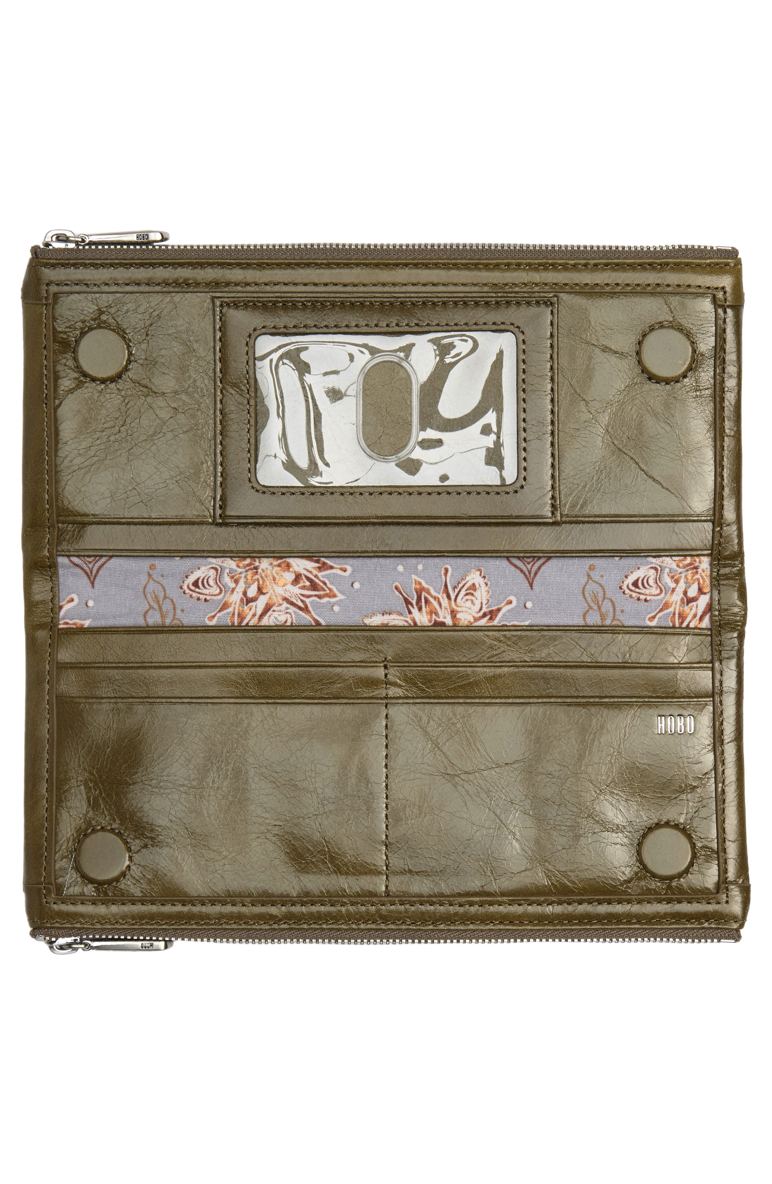 Taylor Glazed Wallet,                             Alternate thumbnail 4, color,                             WILLOW